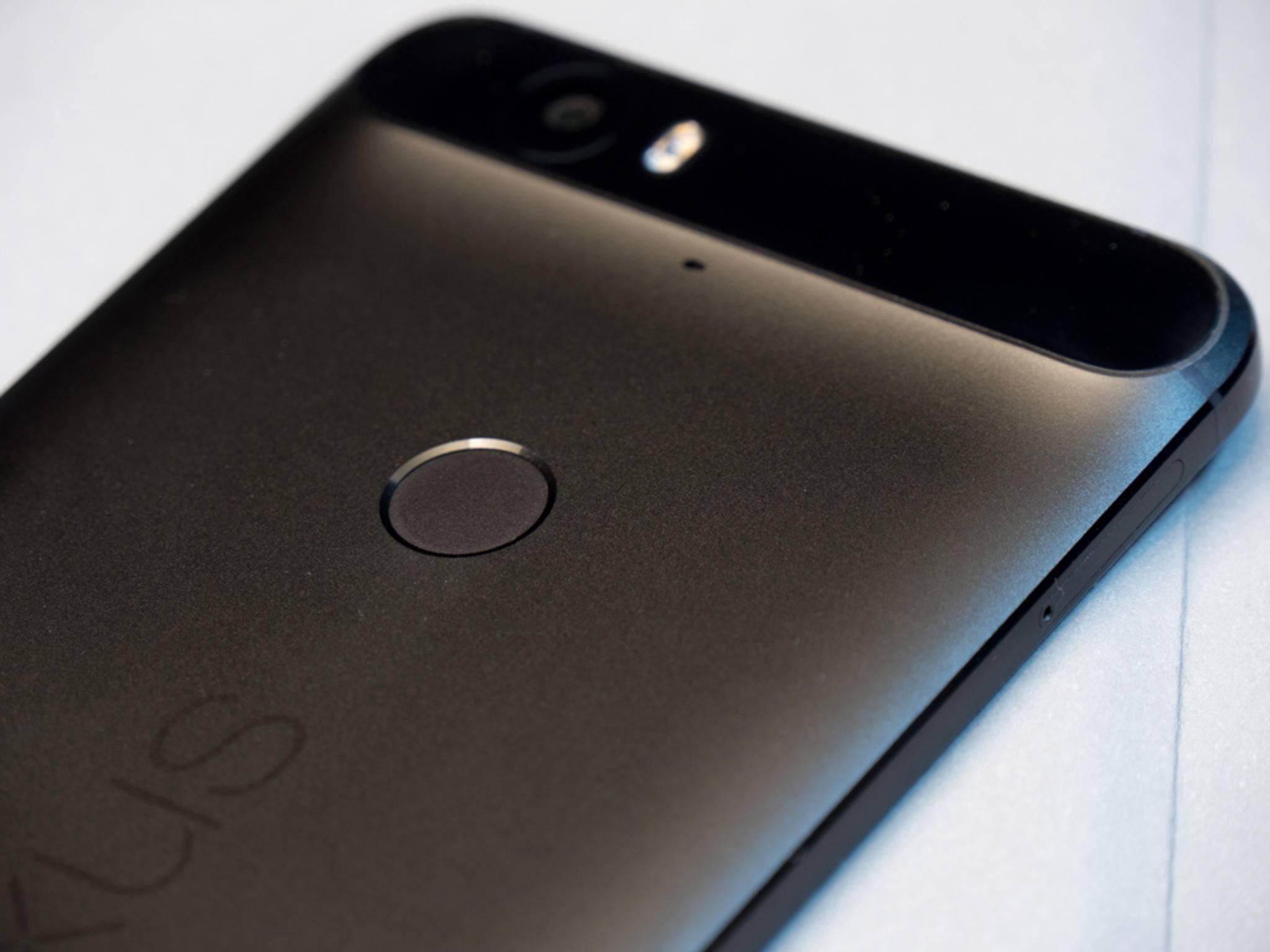 Der Fingerabdrucksensor des Nexus 6P.