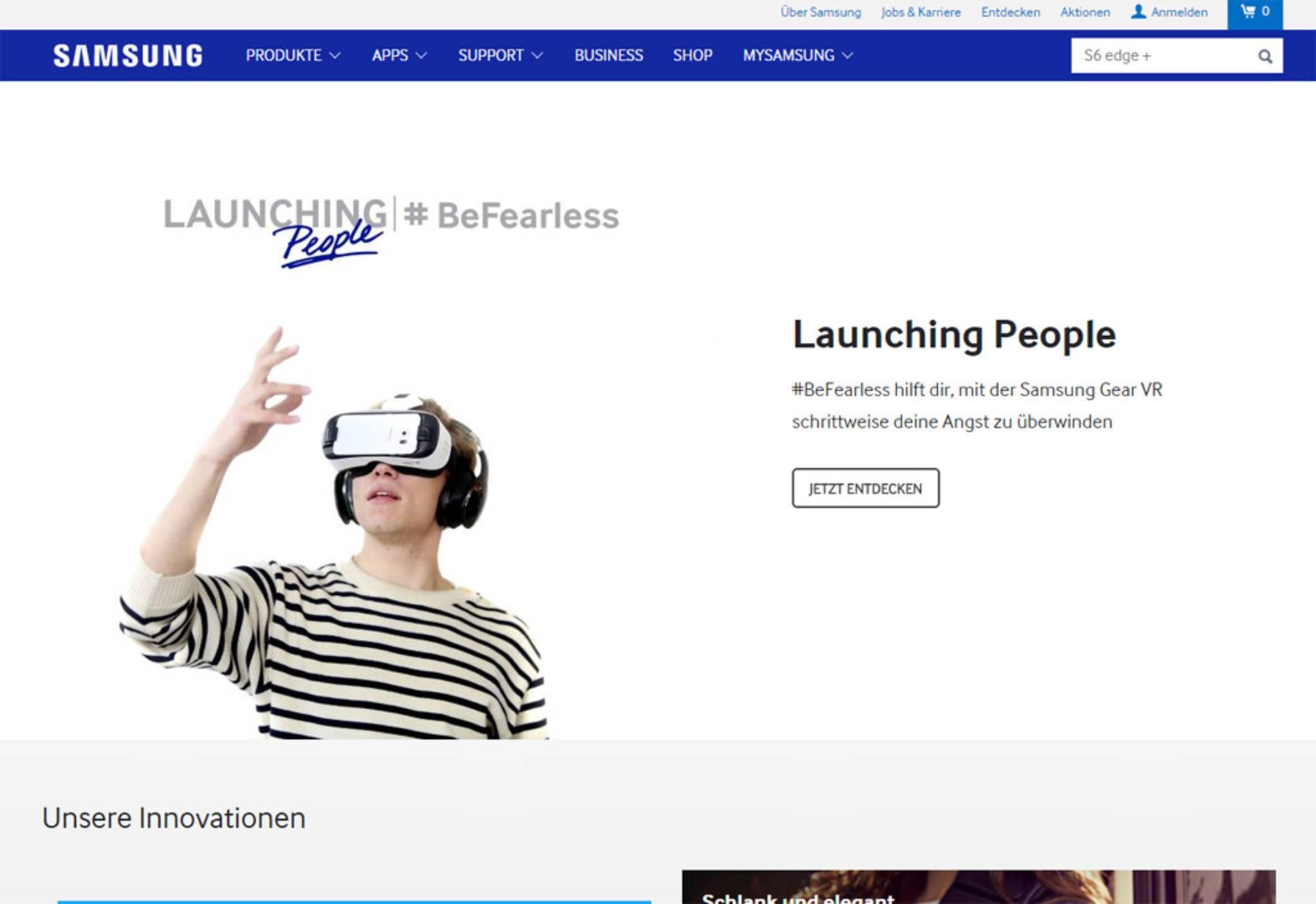 Heute sind die Südkoreaner deutlich stilsicherer und bieten eine aufgeräumte Webseite.