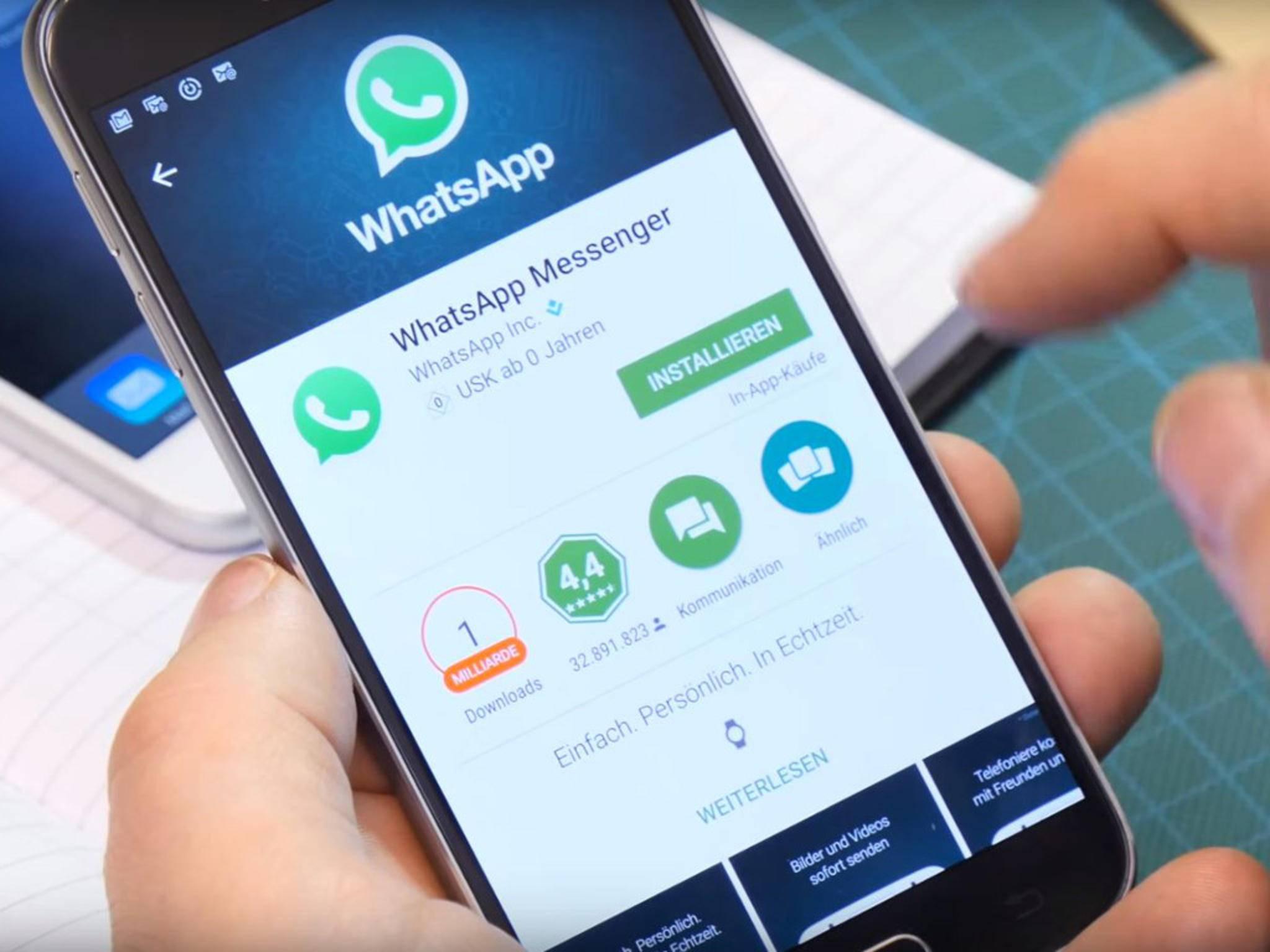 WhatsApp hat jetzt eine Milliarde aktive Nutzer pro Monat.