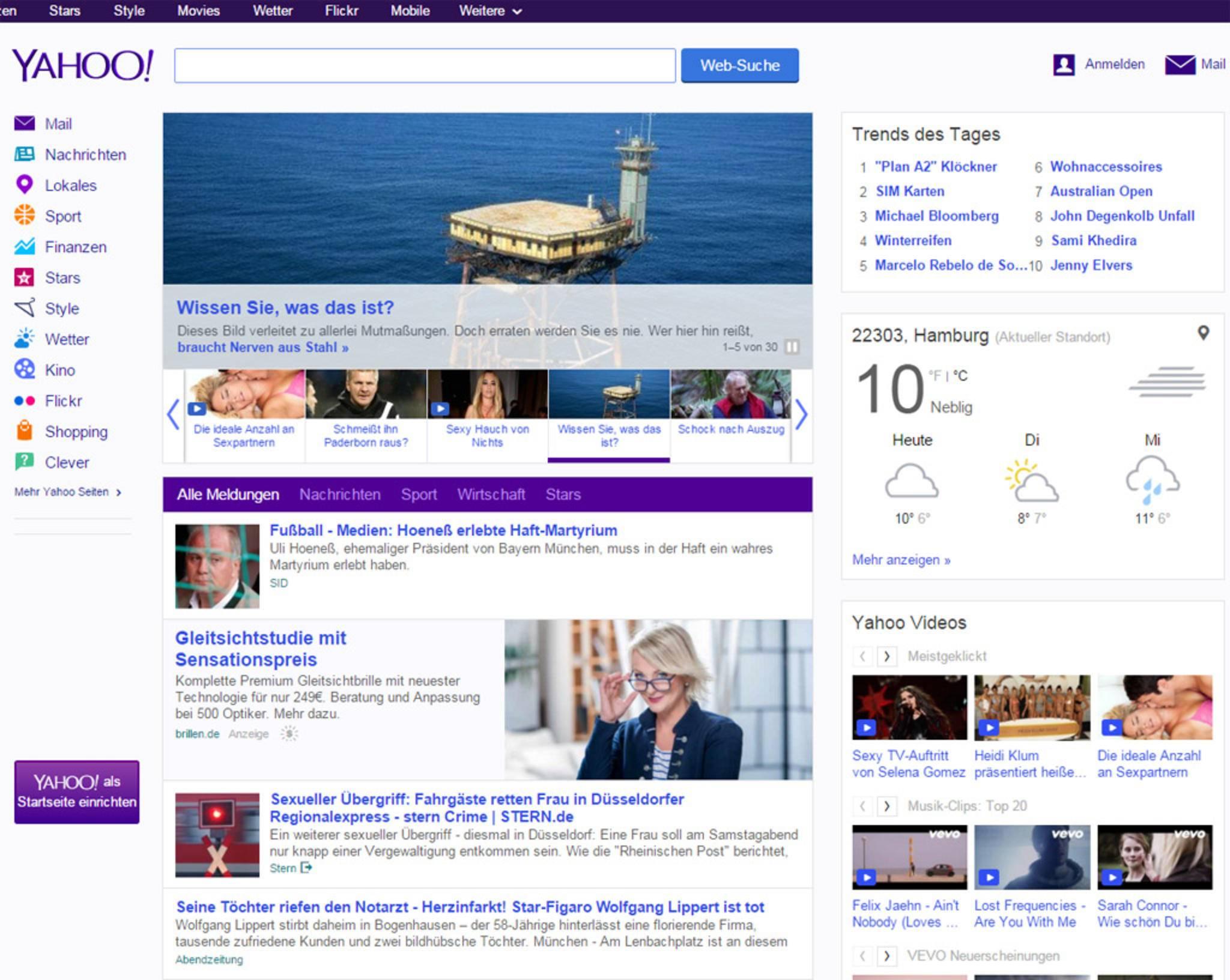 Heute spielt Yahoo als Suchmaschine keine große Rolle mehr.