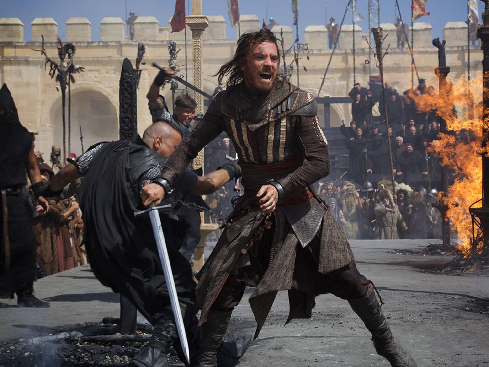 Eine Kampfszene aus dem Assassin's Creed Film, der Ende des Jahres in die Kinos kommt.