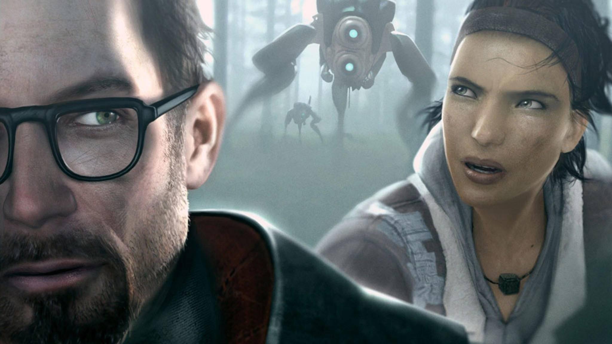Die Helden aus Half-Life 2: Gordon Freeman und Alyx Vance.