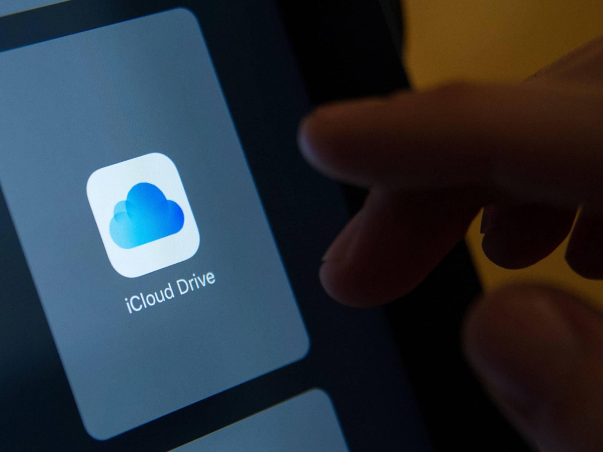 Viele Dateien lassen sich auch bequem in der iCloud abspeichern und sparen dadurch Platz.