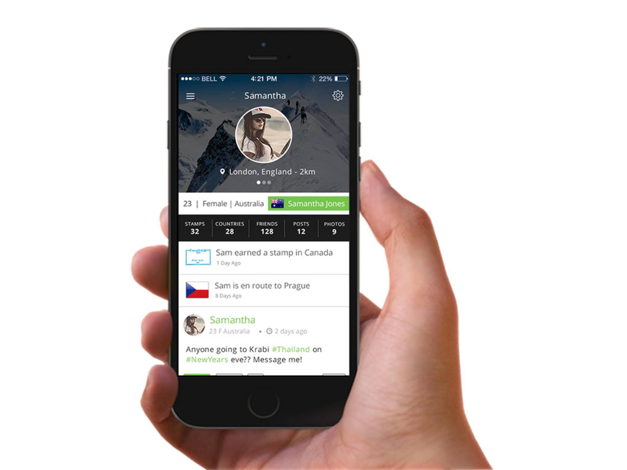 Diese App hilft bei der Vernetzung mit anderen Reisenden.