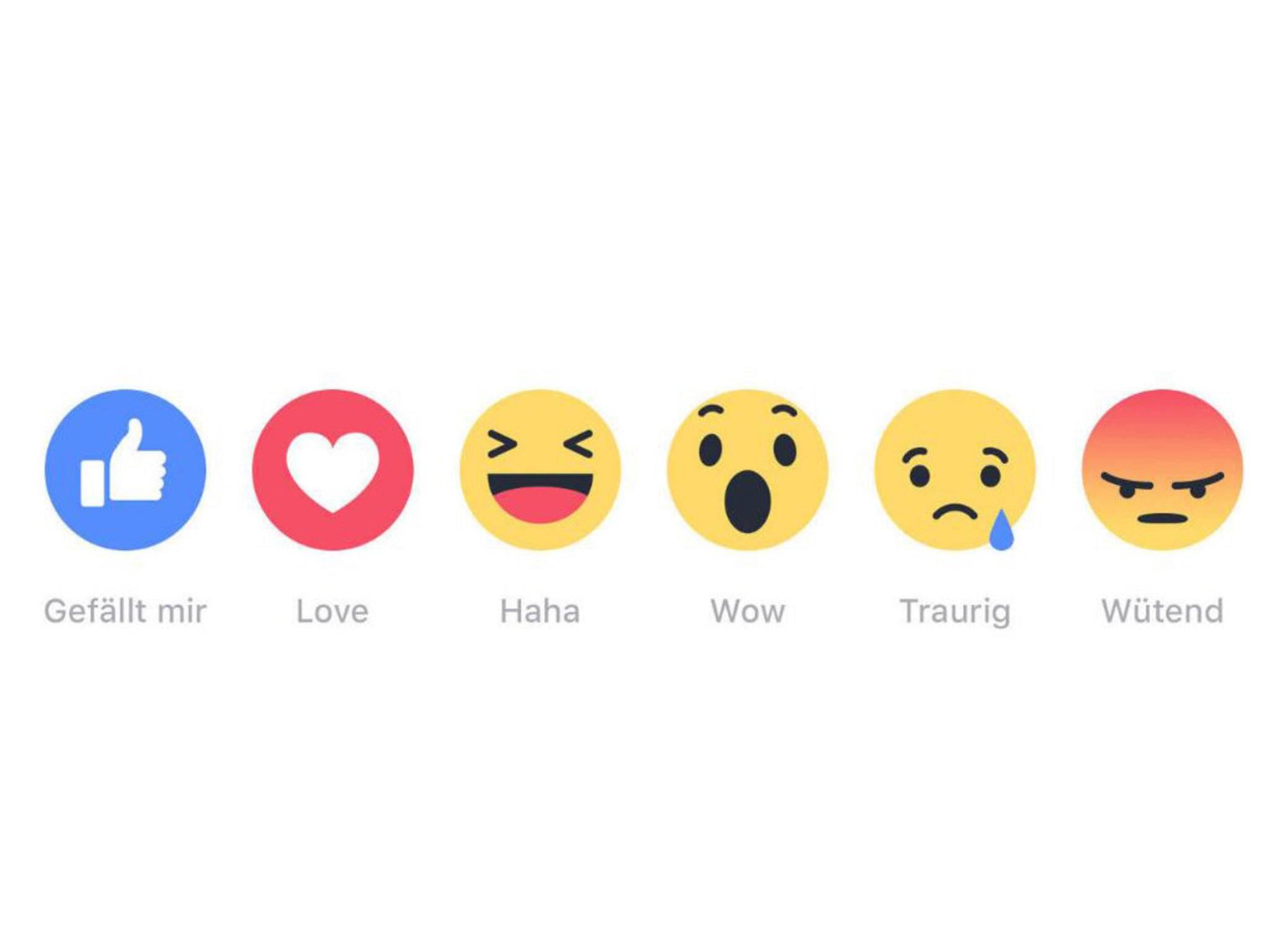 Die neuen Facebook Reactions werden aktuell weltweit ausgerollt.