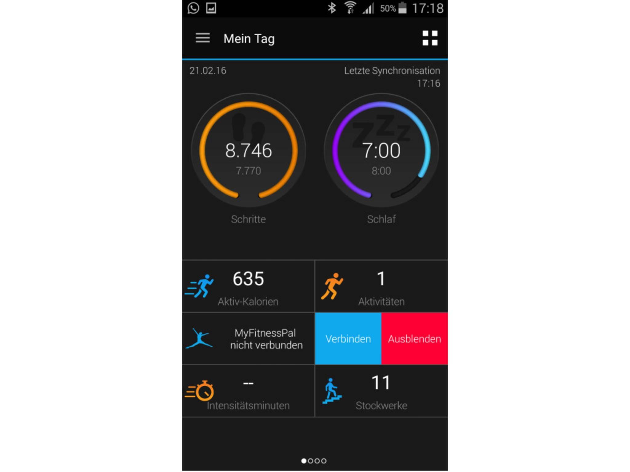 Garmin Vivosmart HR App 7