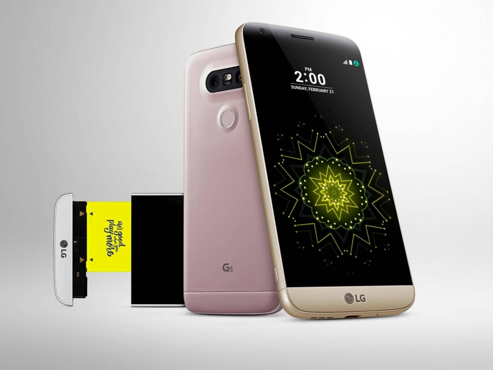Das LG G5 wurde auf dem MWC 2016 vorgestellt.
