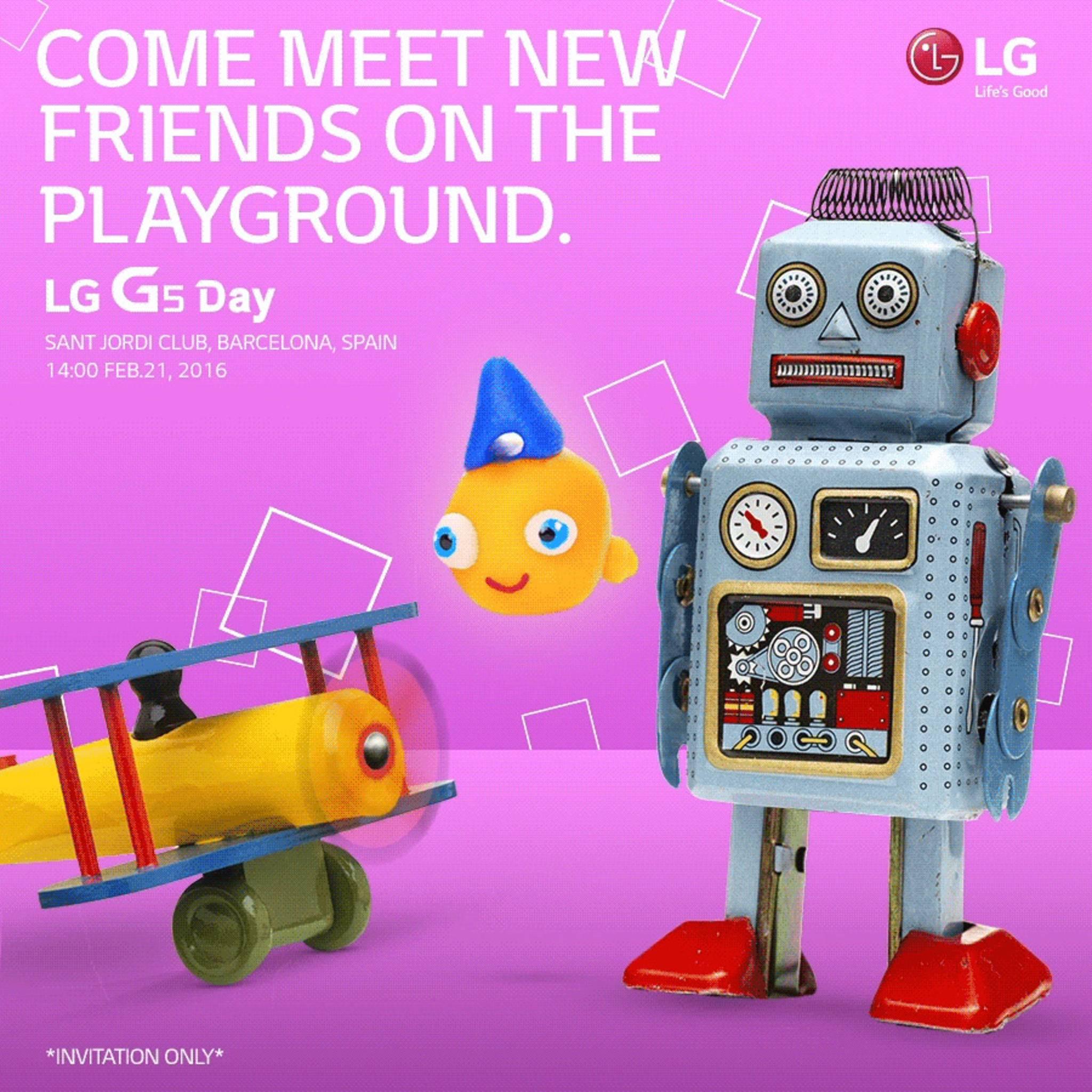 LG weist verspielt auf das Präsentationsdatum seines LG G5 hin.