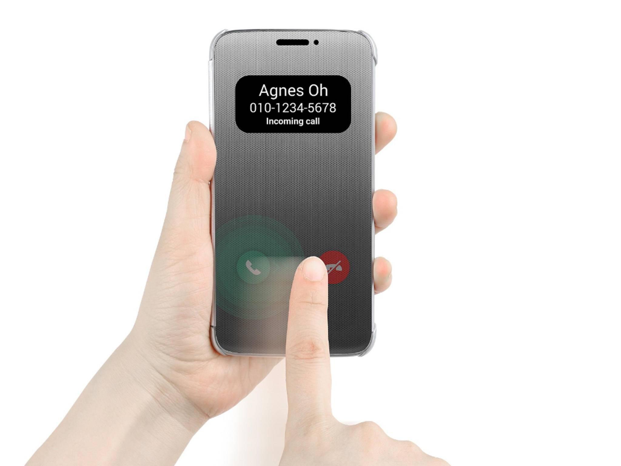 Dieses Quick Cover ist als offizielles Zubehör fürs LG G5 geplant.