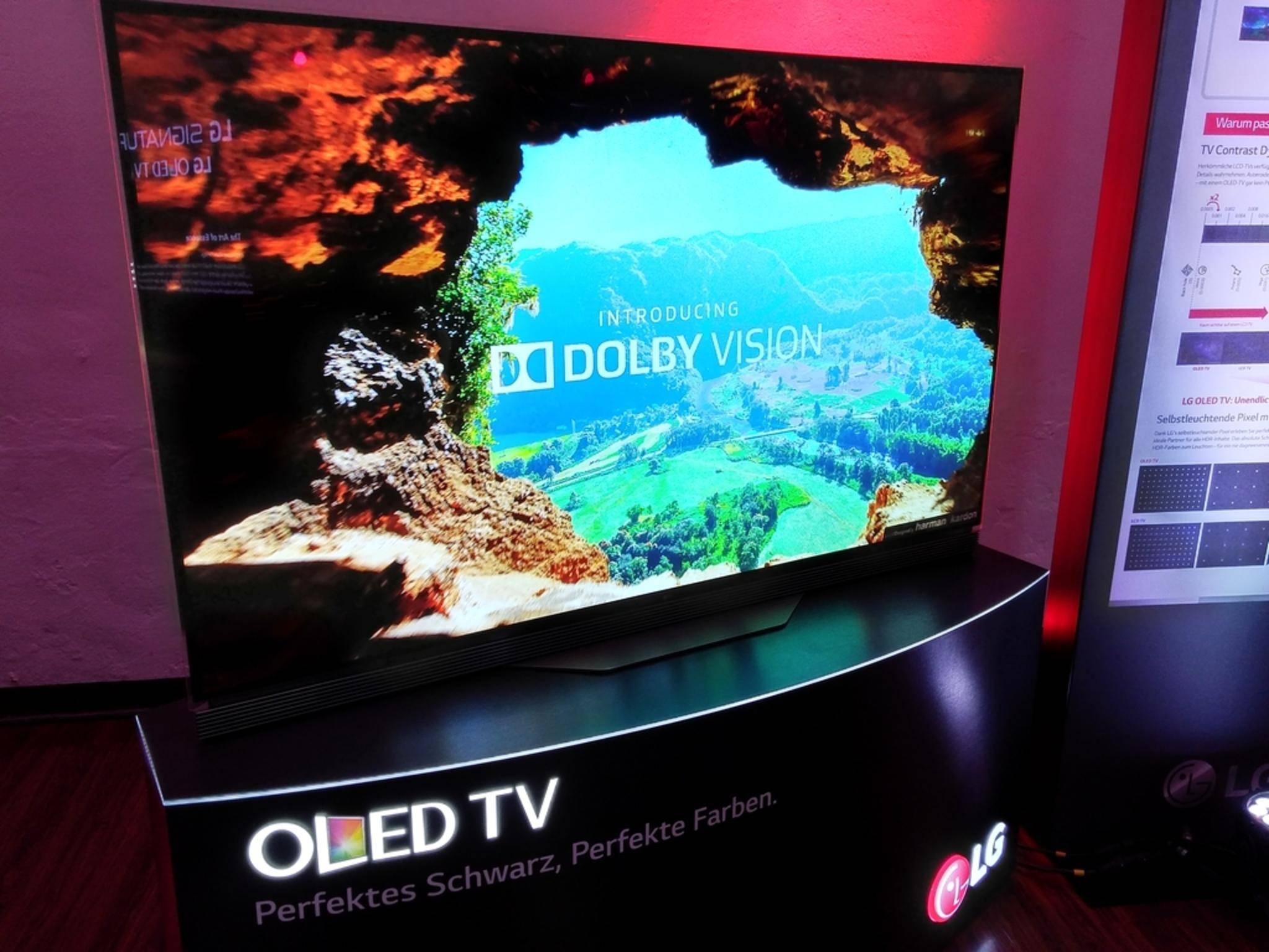 Der OLED65E gehört zu den neuen Signature-Geräten von LG.