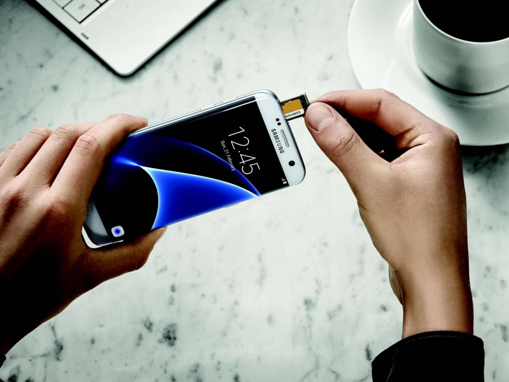 Der Speicher des Galaxy S7 Edge lässt sich erweitern.