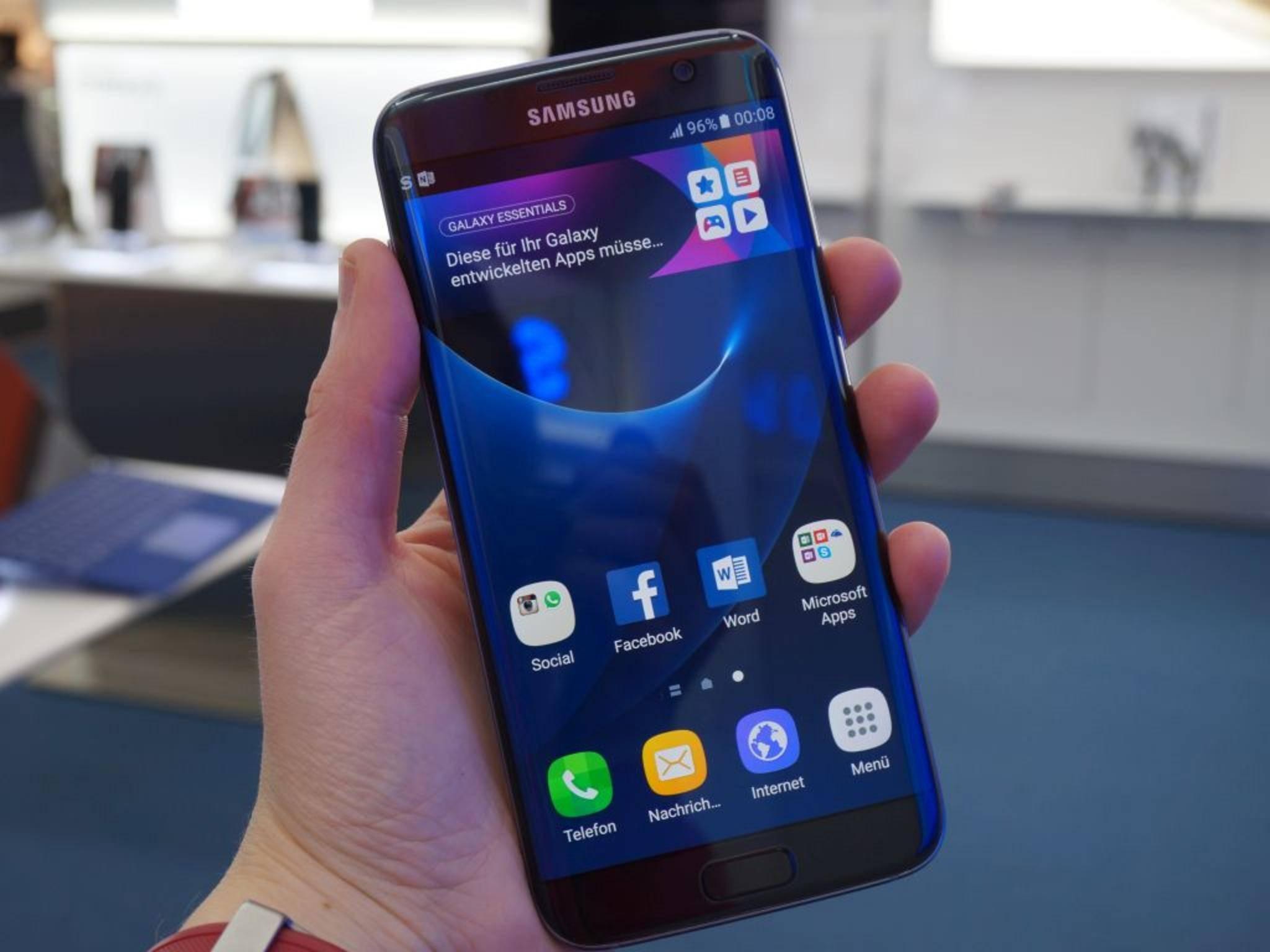 Das Samsung Galaxy S7 Edge. Auch das Flaggschiff hat Probleme.