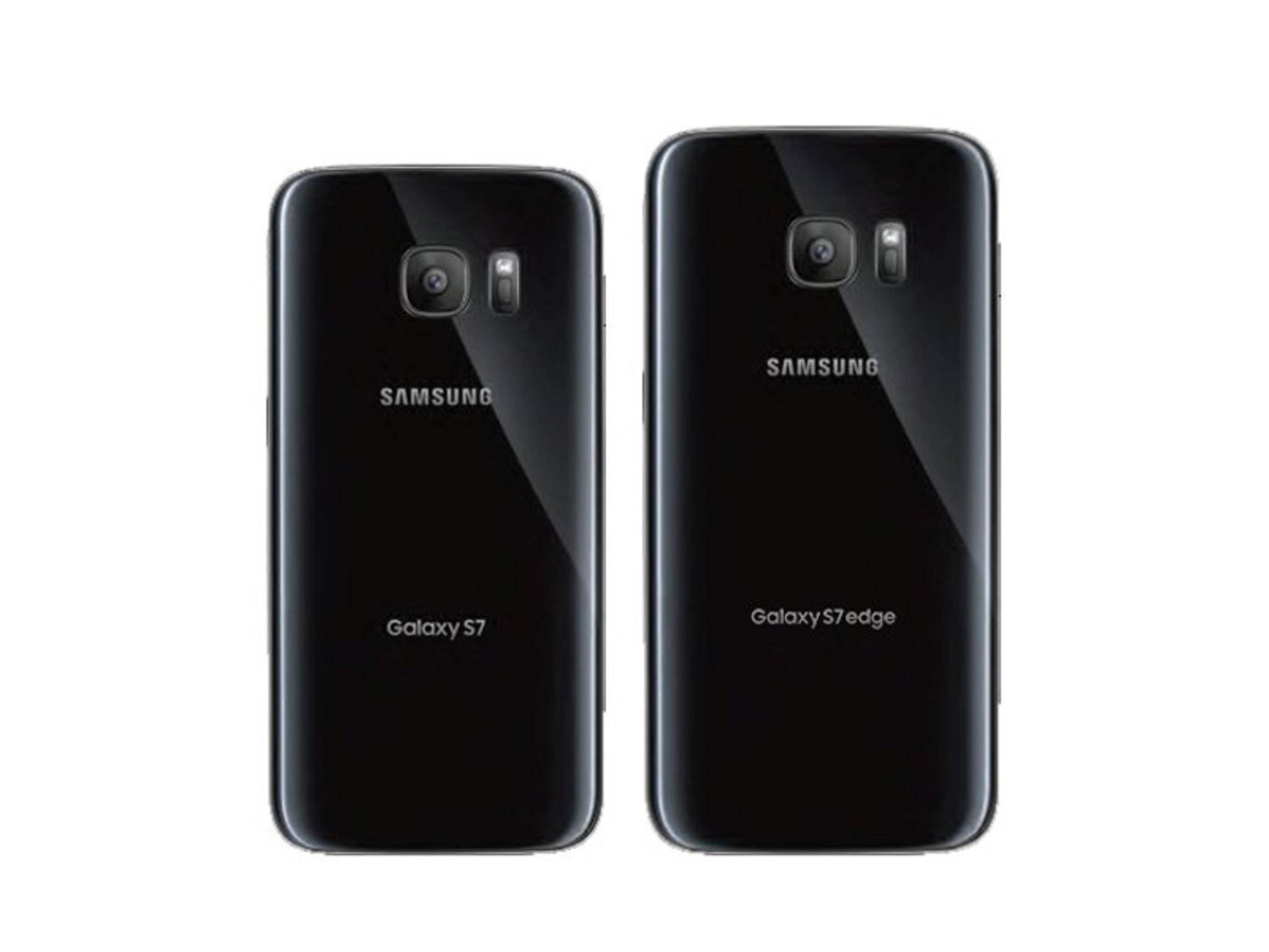 Die Rückseite von Galaxy S7 und Galaxy S7 Edge.