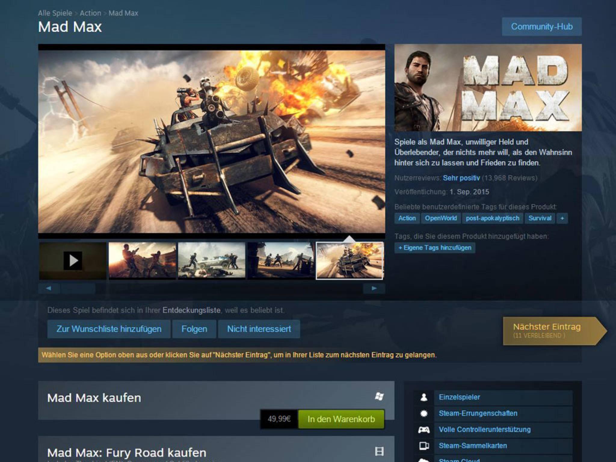 Spiele sind im Handel oft günstiger als bei Steam und Co.