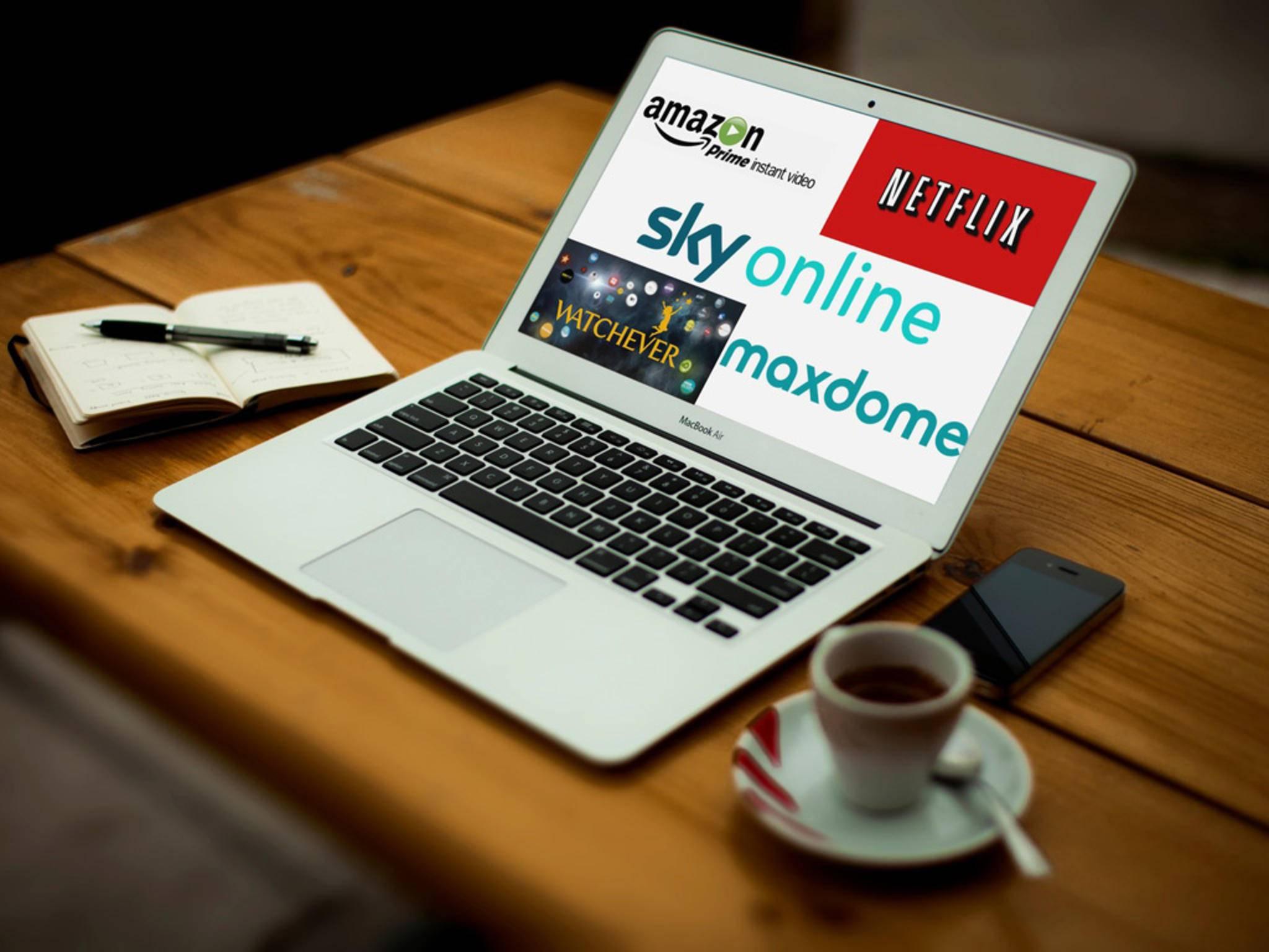 Wir vergleichen fünf große Streamingdienste.
