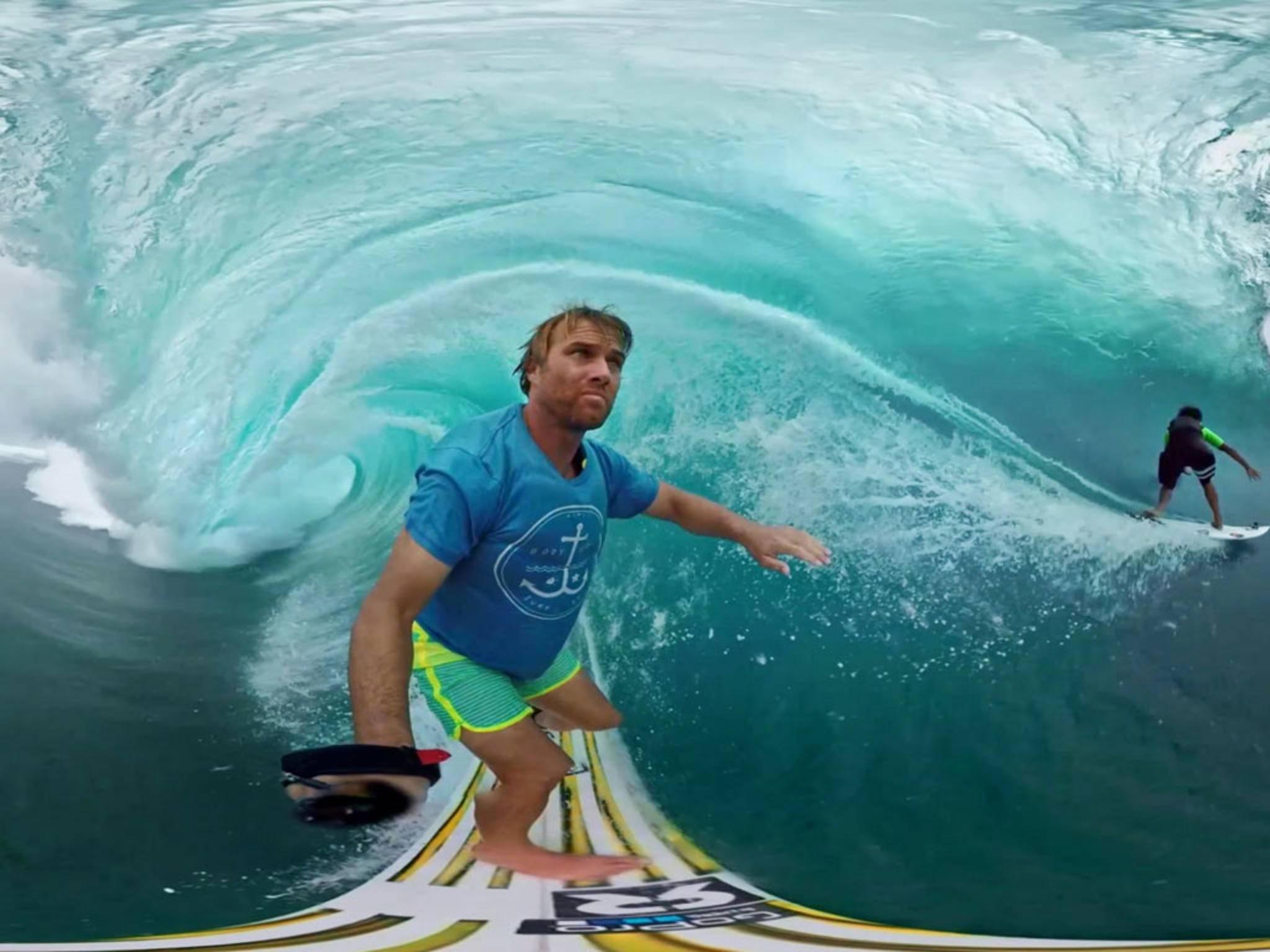 Anthony Walsh ist ein begnadeter Surfer und Action-Cam-Fan.