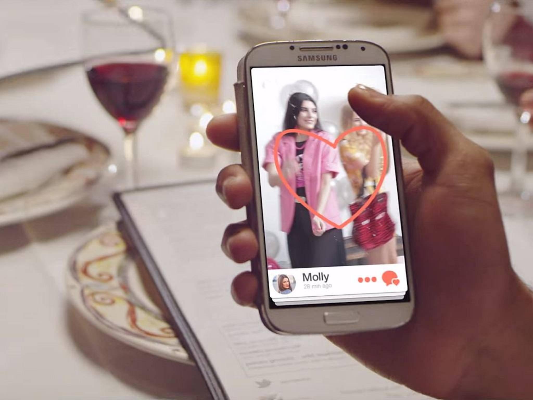 Immer mehr Menschen finden ihr Valentinstags-Date via App.