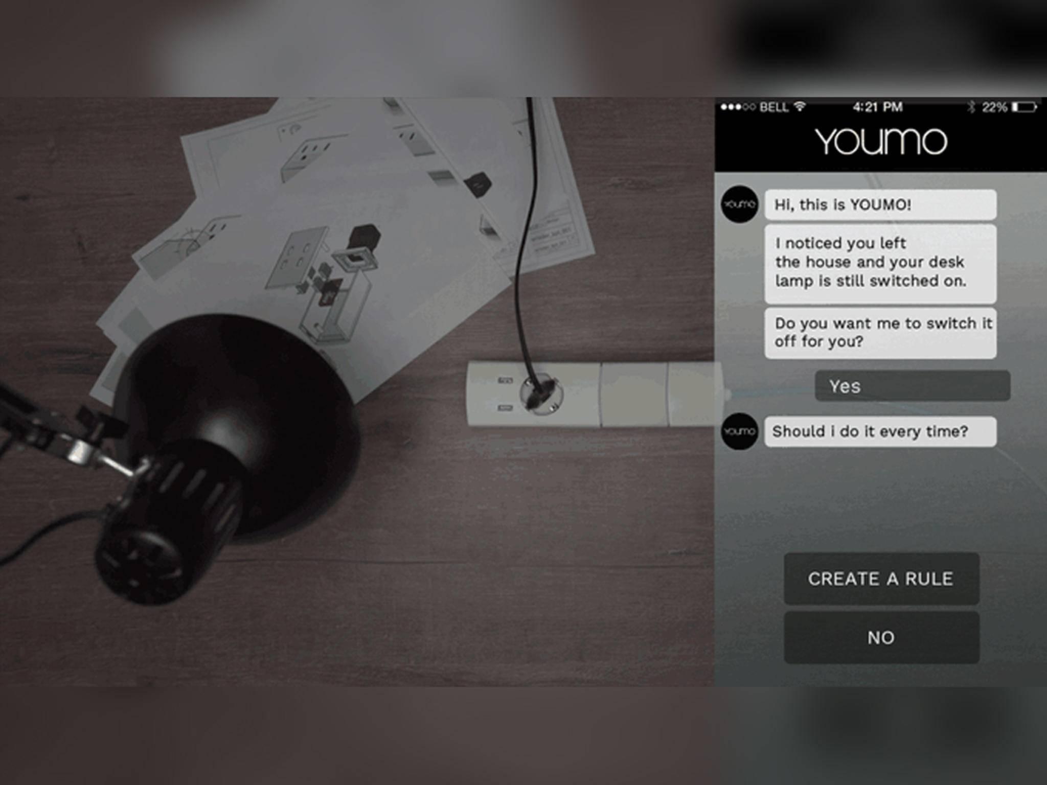 ... das smarte Modul den Nutzer per App erinnern, ...