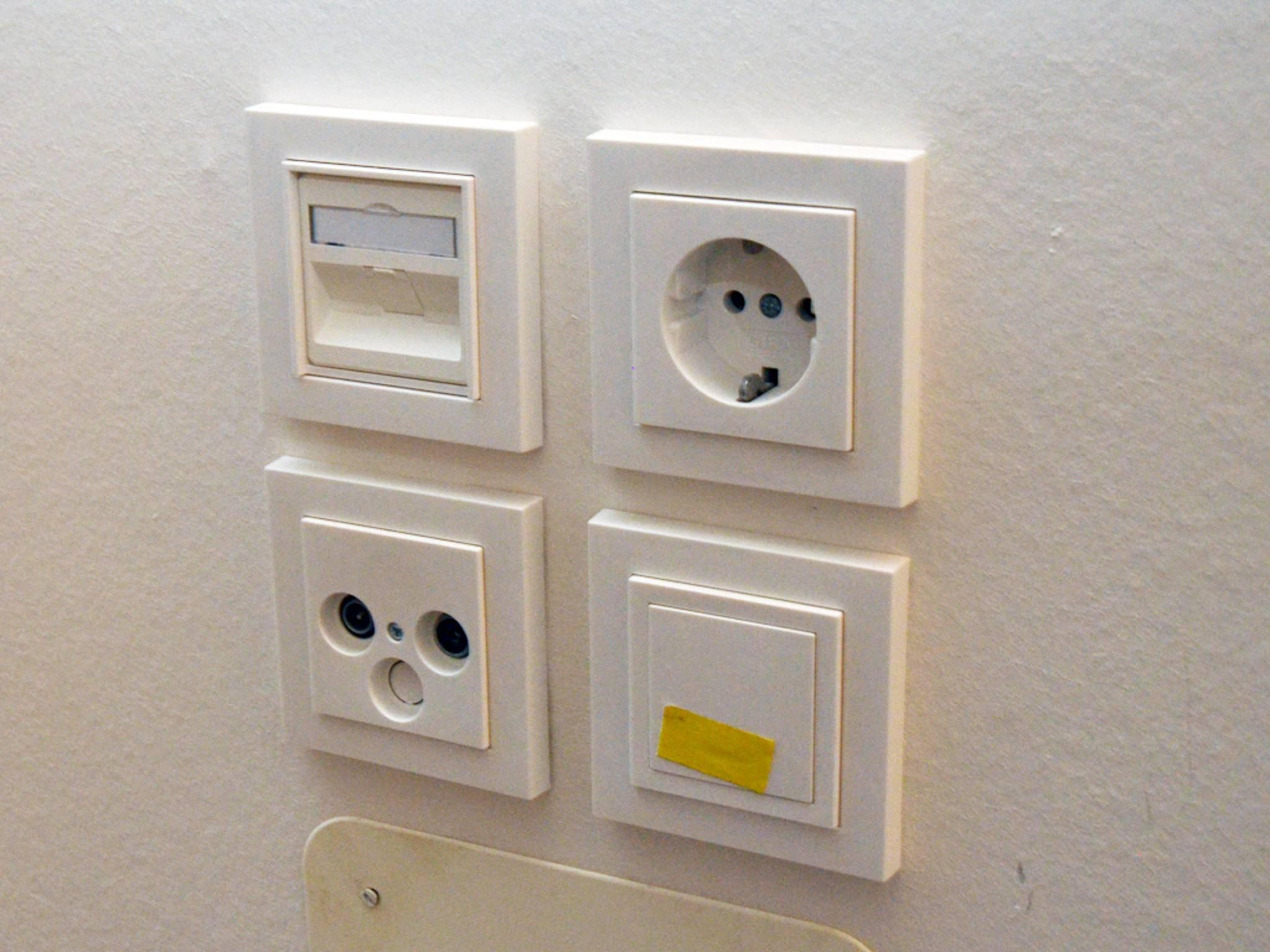 ... außerdem viele Anschlüsse an den richtigen Stellen installiert...