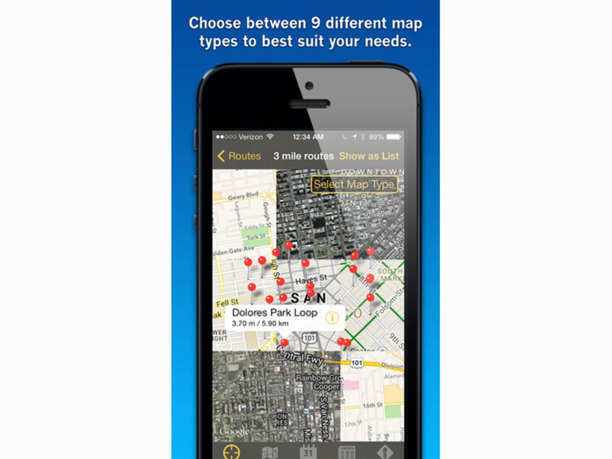 Diese App bietet tolle Jogging-Routen und individuelle Trainingspläne.