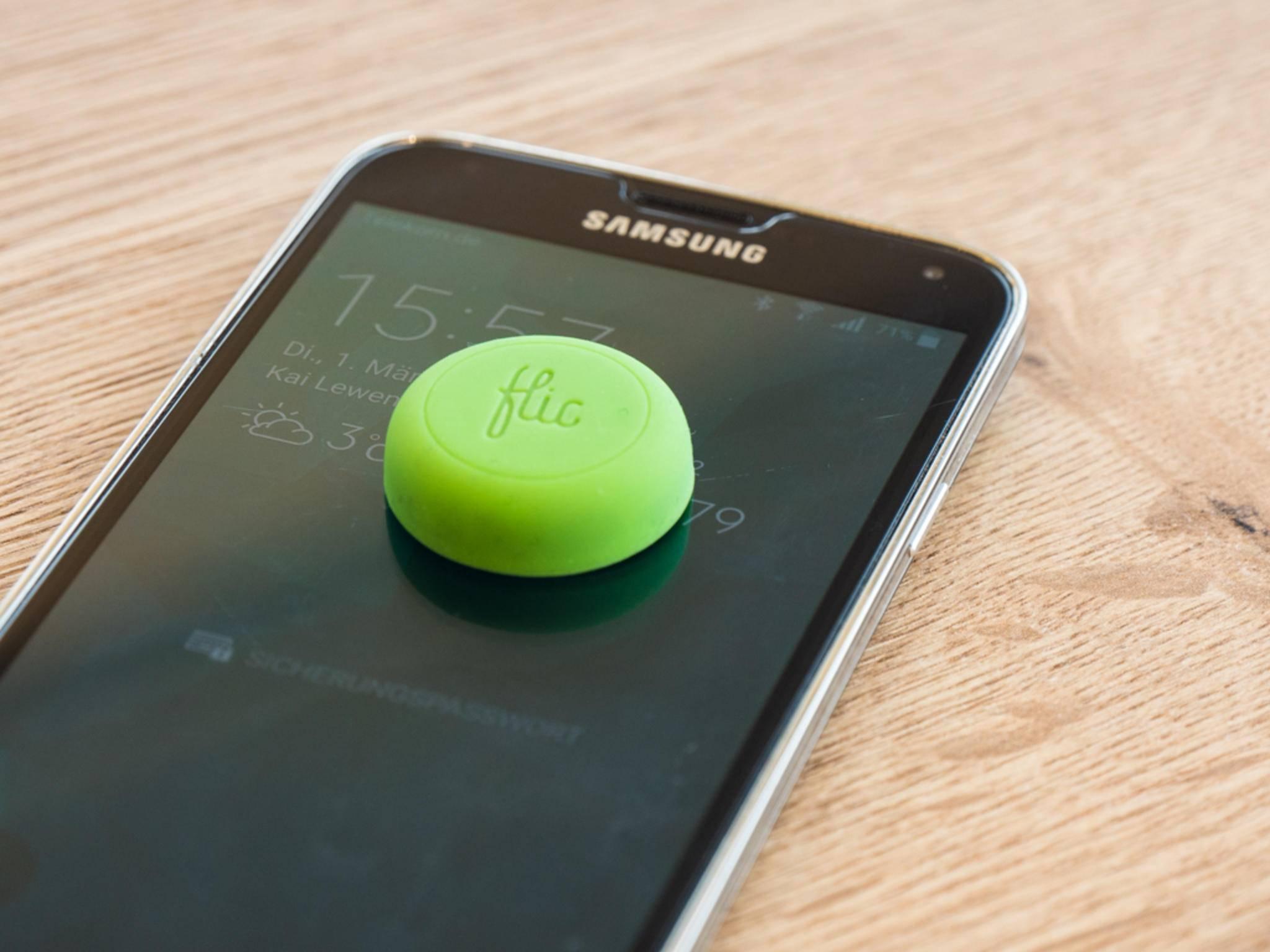 Per Smartphone können die Flic-Aktionen gesteuert und konfiguriert werden.