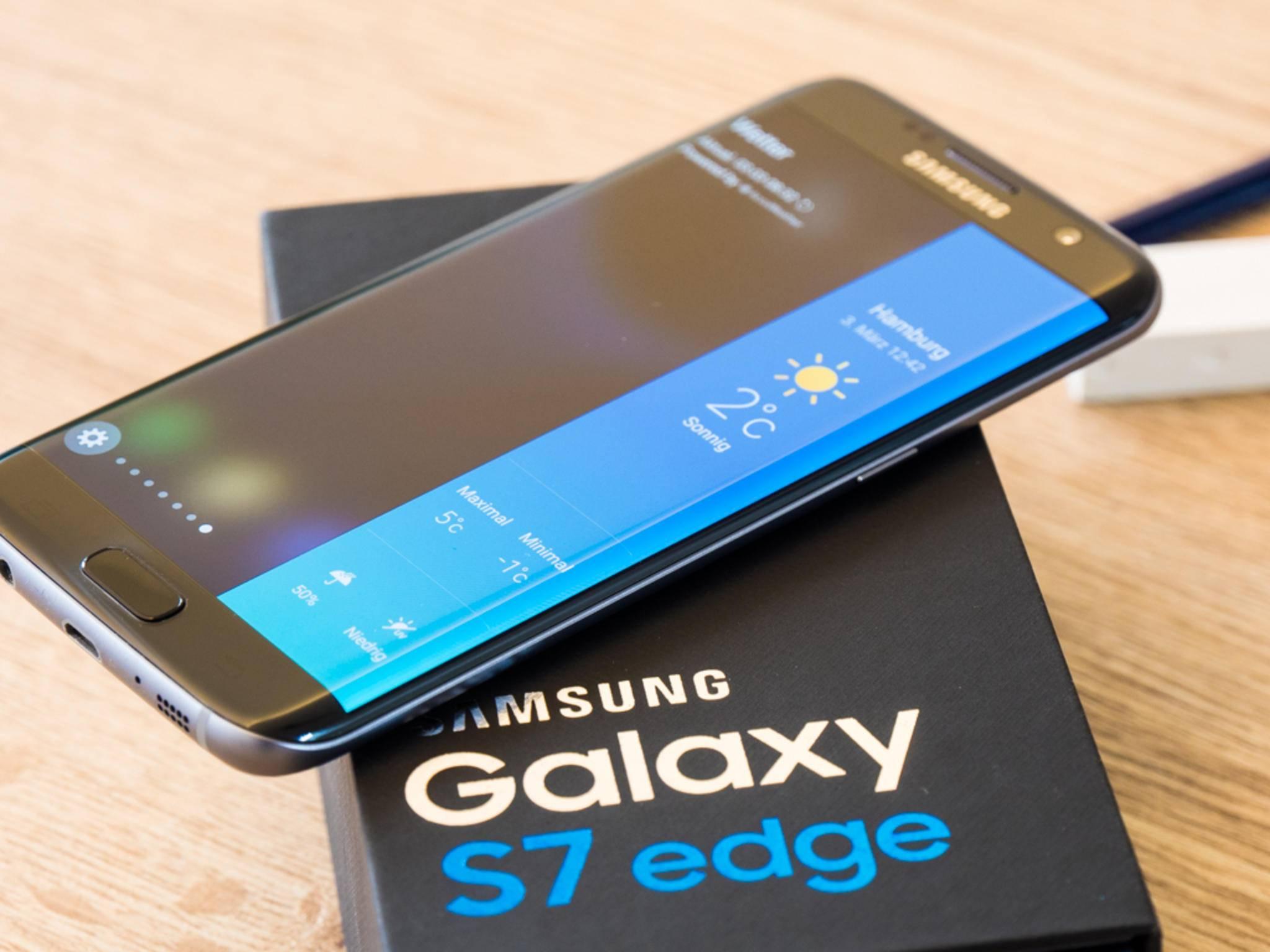 Der Edge-Screen beim Galaxy S7 Edge könnte Probleme machen.