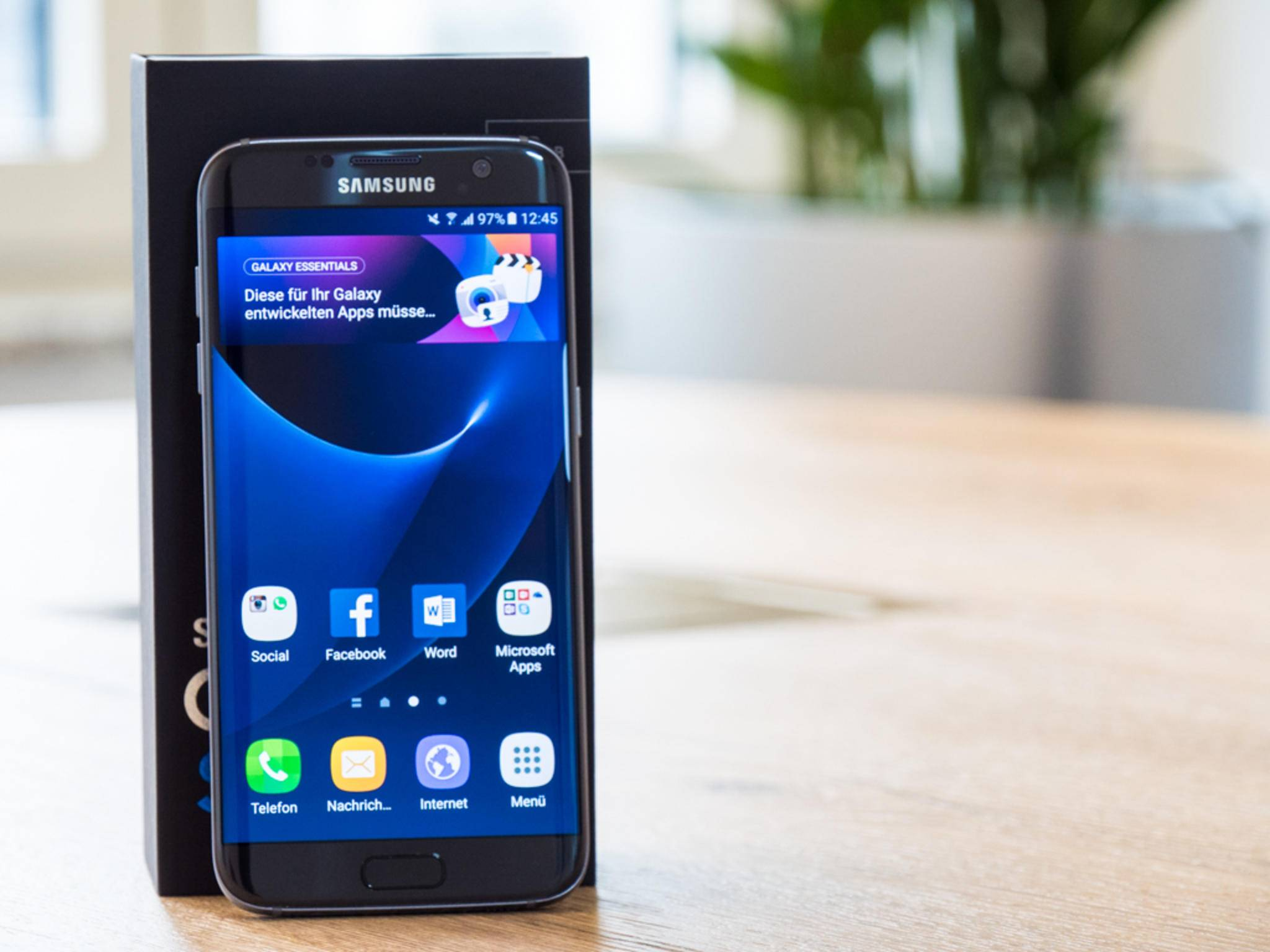 Das Display des Galaxy S7 Edge misst 5,5 Zoll in der Diagonale.