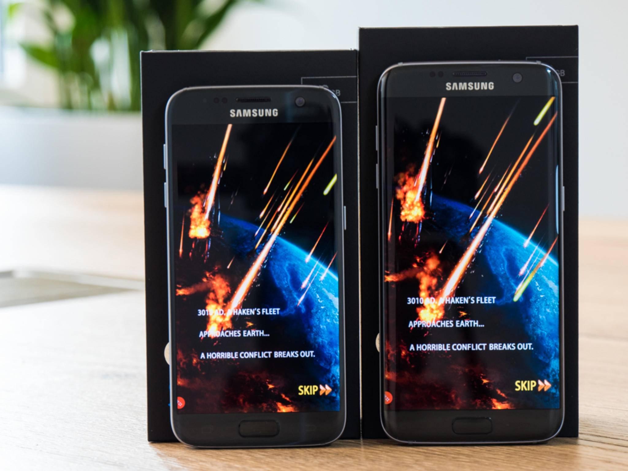 Das Galaxy S7-Duo muss sich noch mit 2K-Auflösung begnügen.