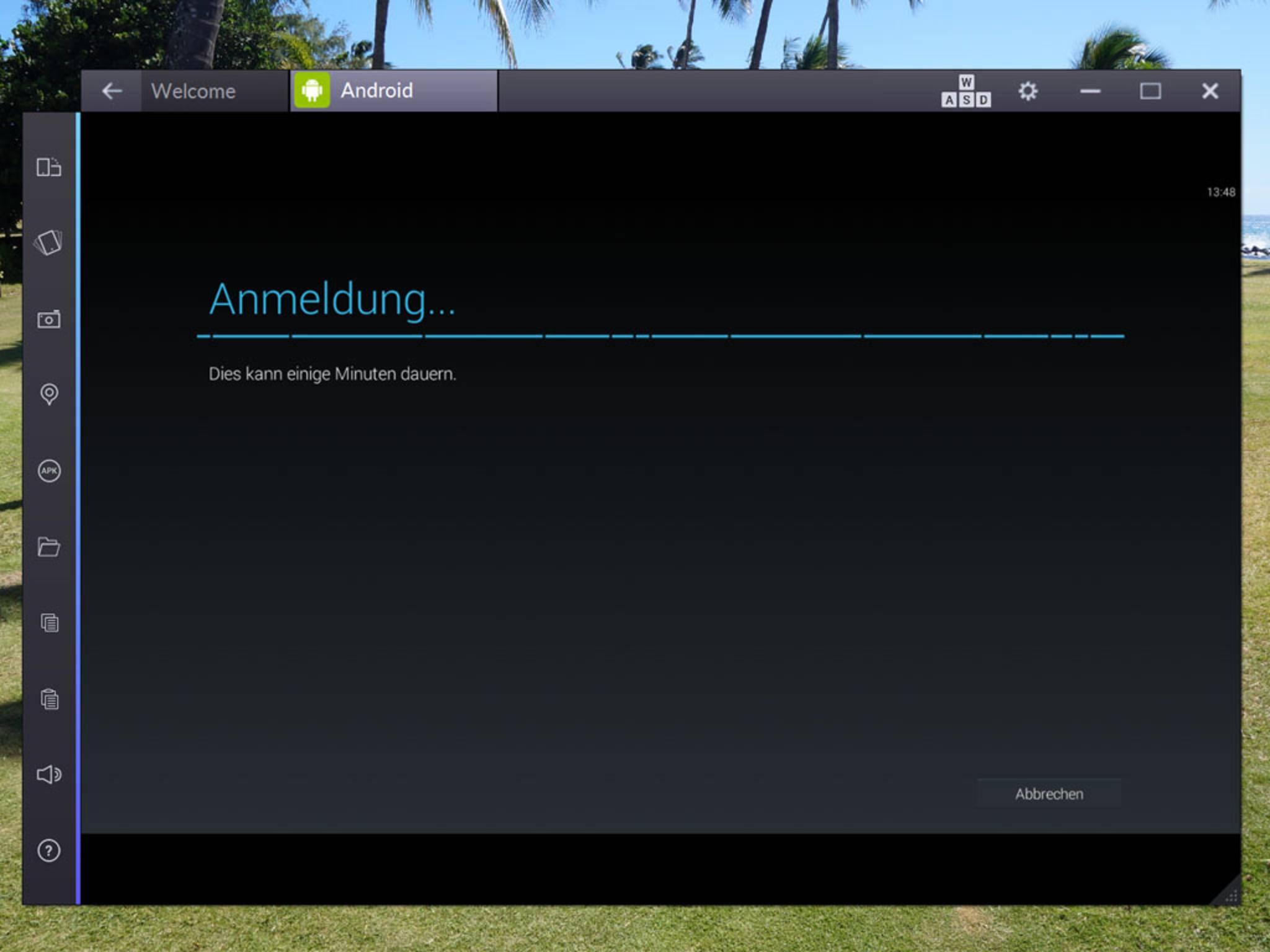 Vom bestehenden Konto werden verknüpfte Apps automatisch hinzugefügt.