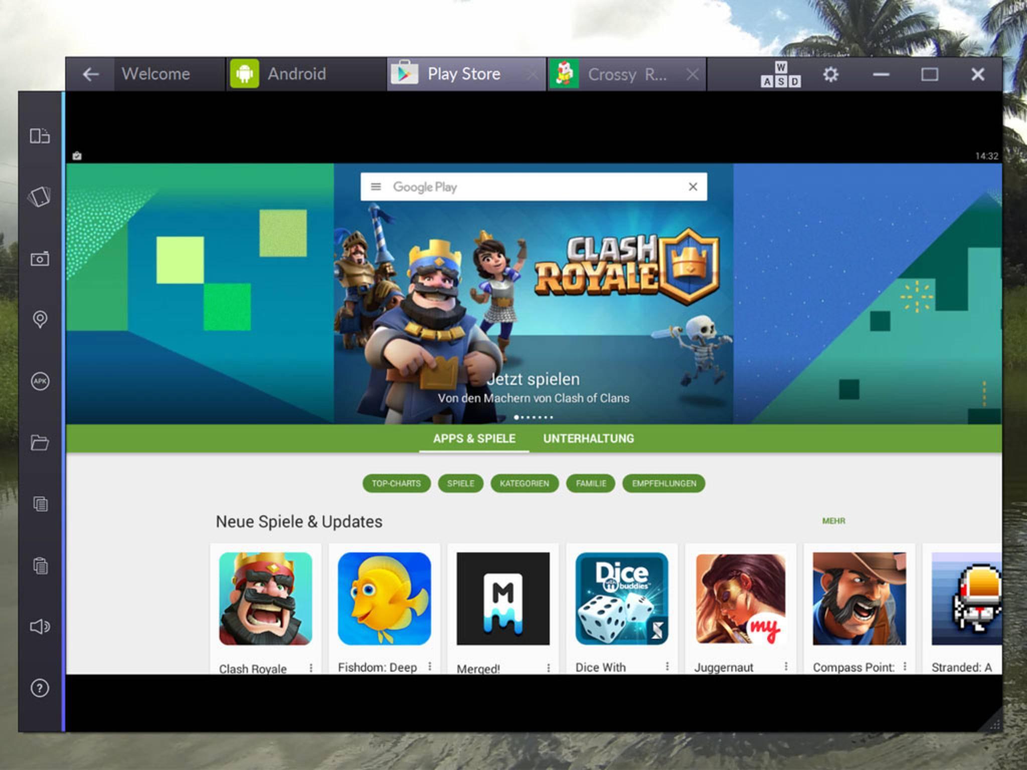 Du kannst im Anschluss im Play Store stöbern.