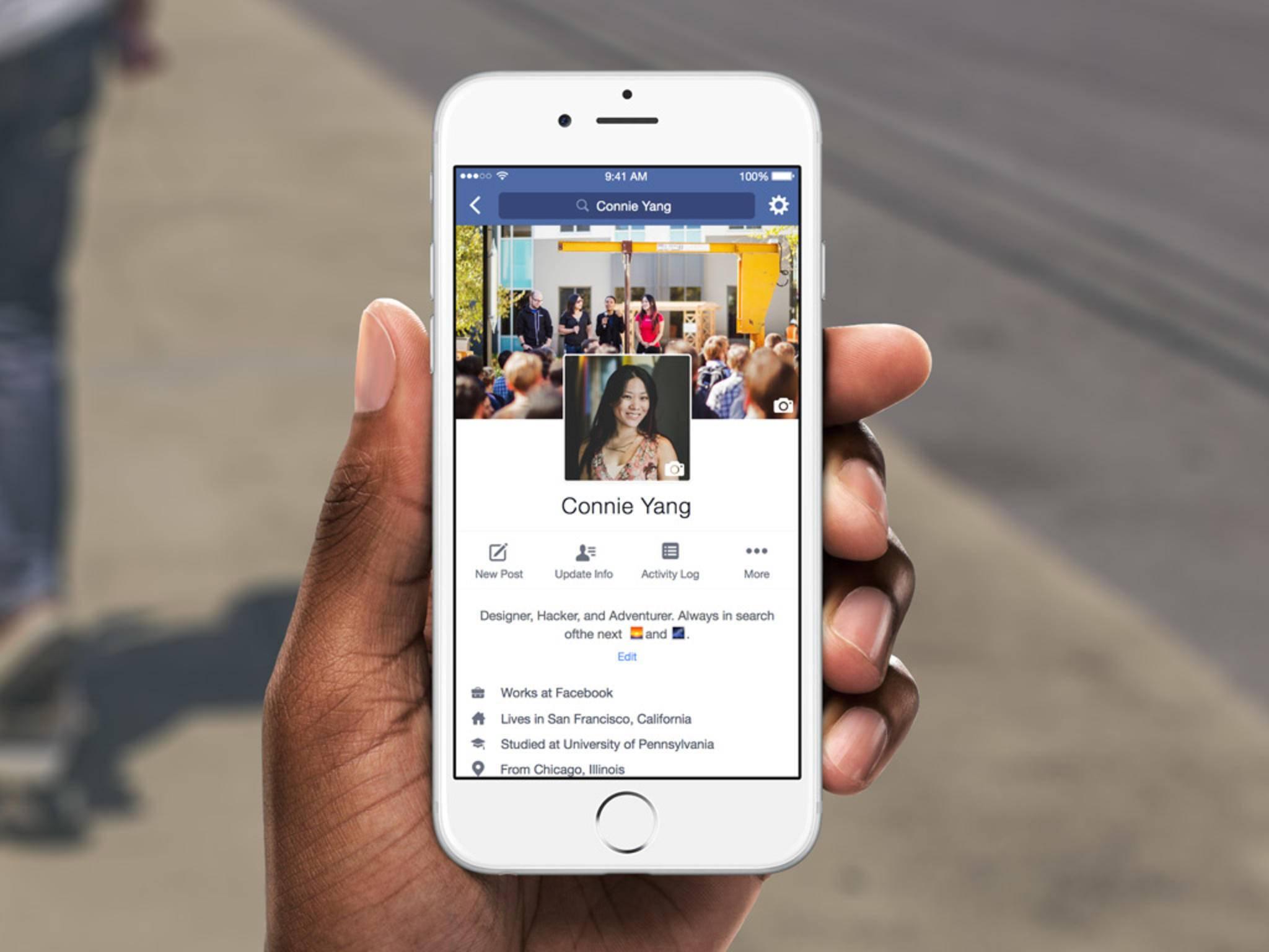 Zukunftsvision: Facebook ohne Text.