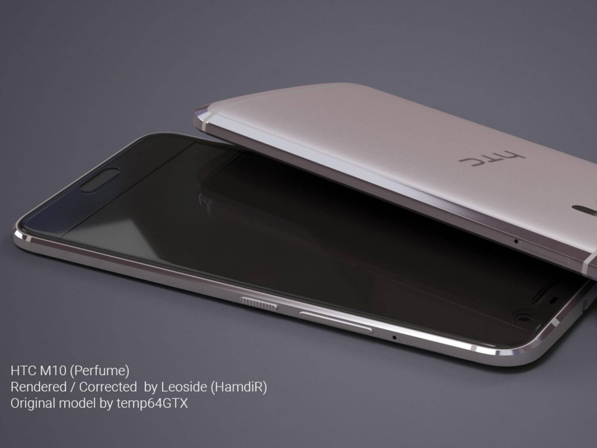 Das HTC 10 – hier ein Renderbild – wird am 12. April enthüllt.