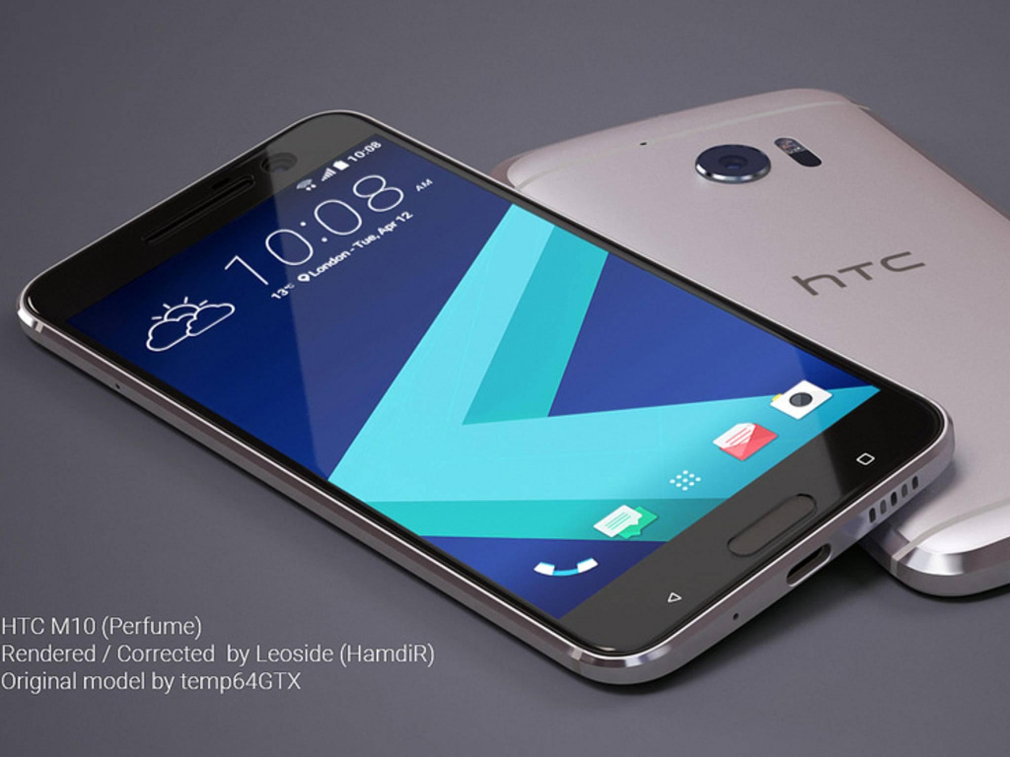 Diese Render-Bilder sollen das künftige HTC 10 zeigen.