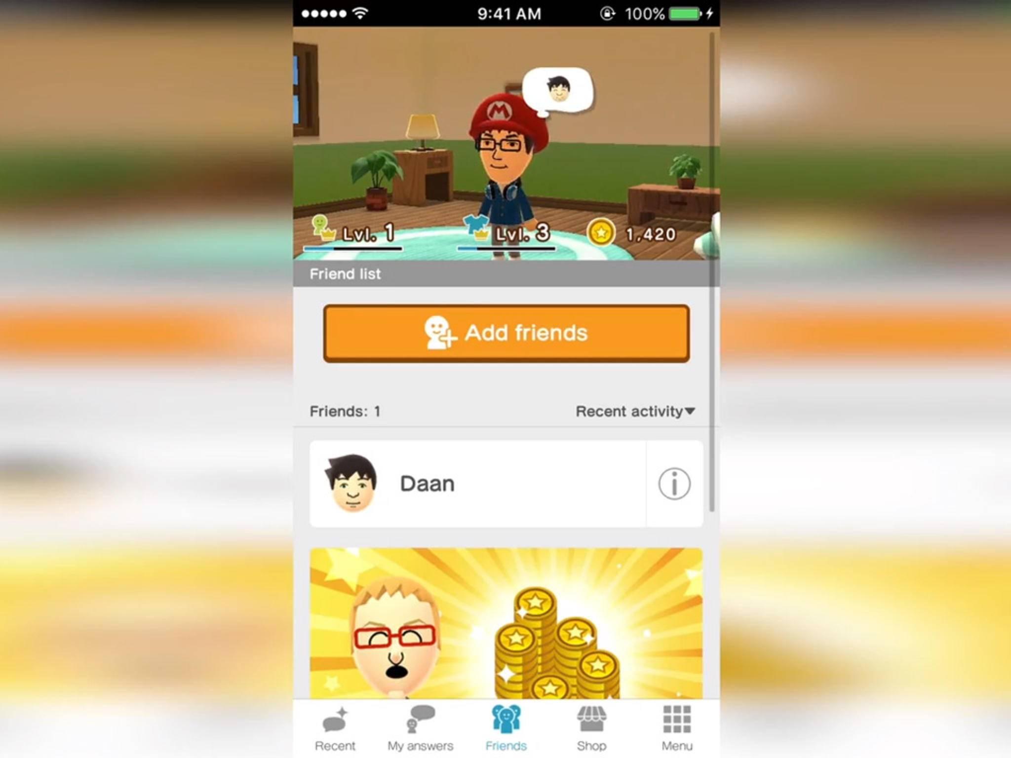 """""""Miitomo"""" von Nintendo wurde in Japan für iOS und Android veröffentlicht."""