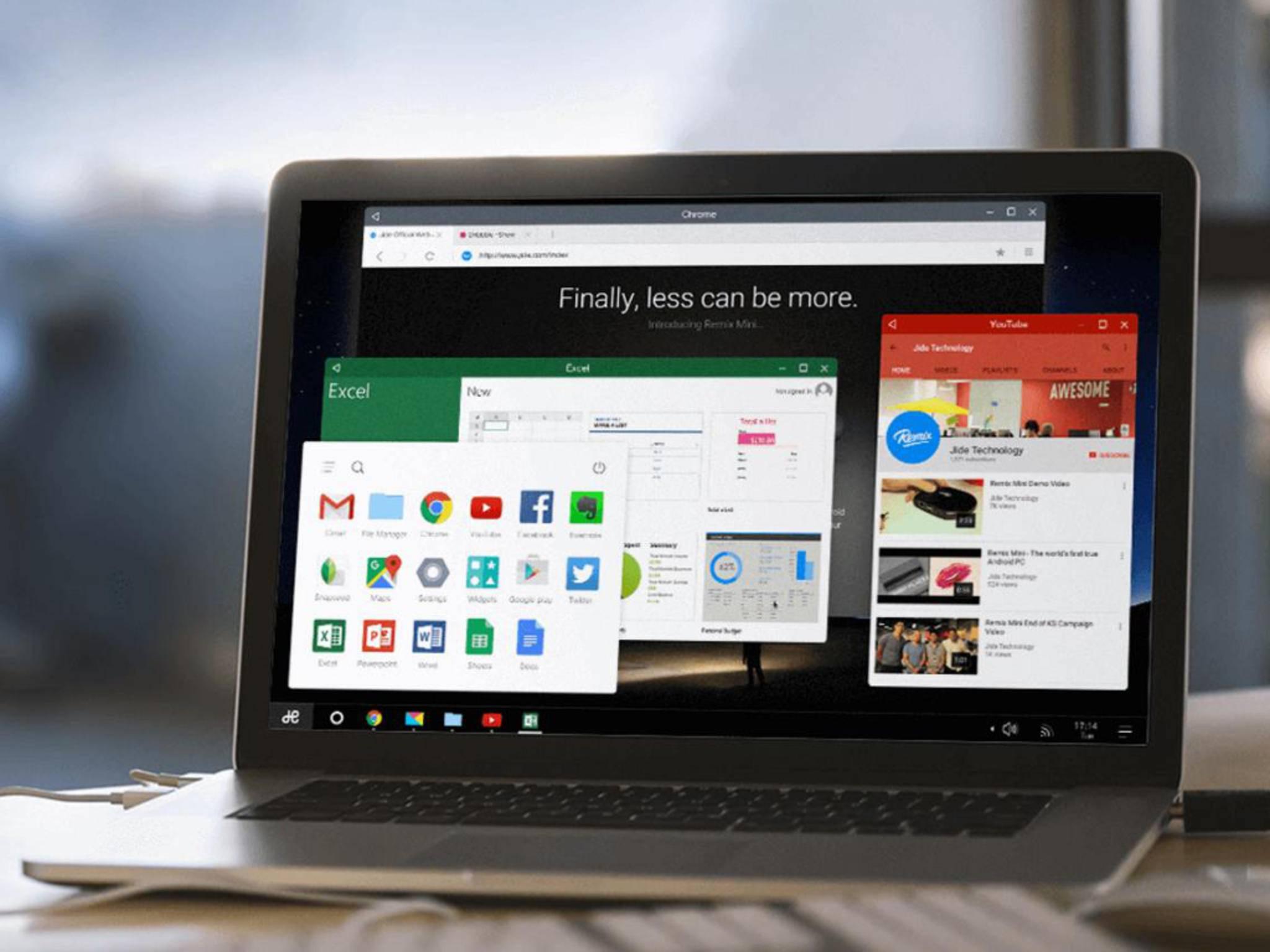 Mit Remix OS kann man ältere Laptops eindeutig beschleunigen.