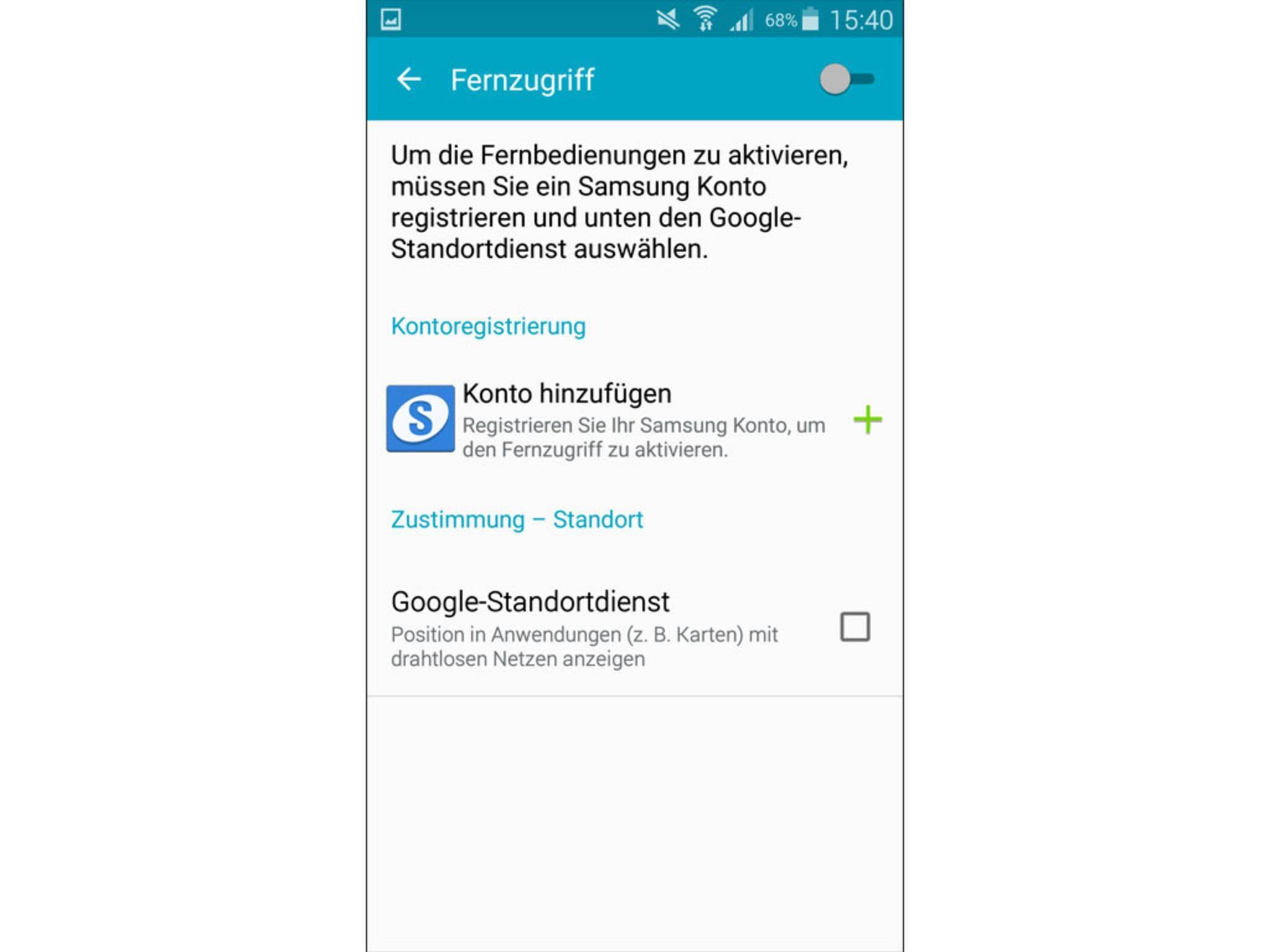 Samsung Galaxy S5 orten Fernzugriff einrichten 2