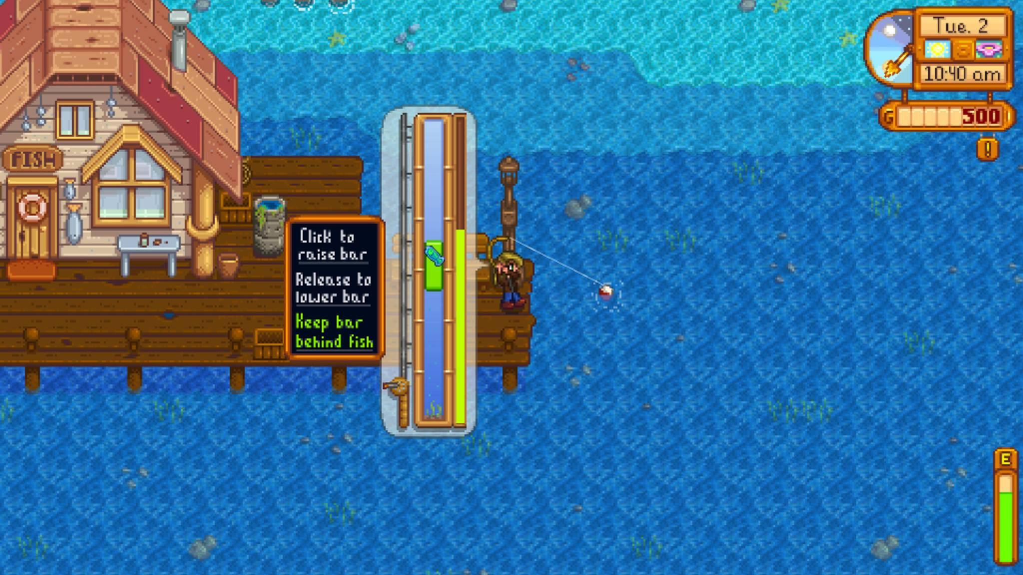 Auch Fischen kann man in dem Spiel.