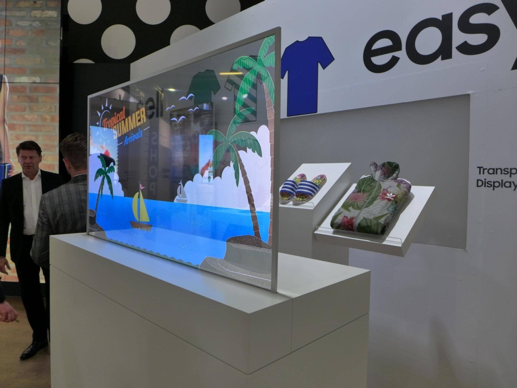 Auf der Samsung-Roadshow gab es jede Menge TVs zu sehen.