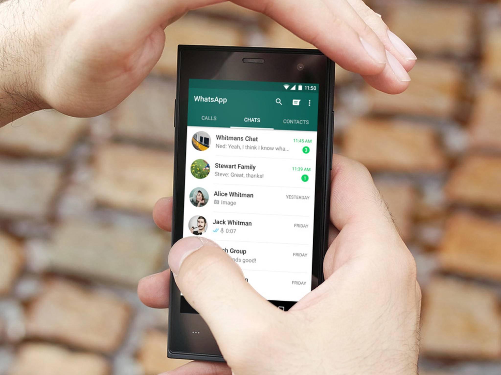 Die Profilbilder von WhatsApp lassen sich speichern.