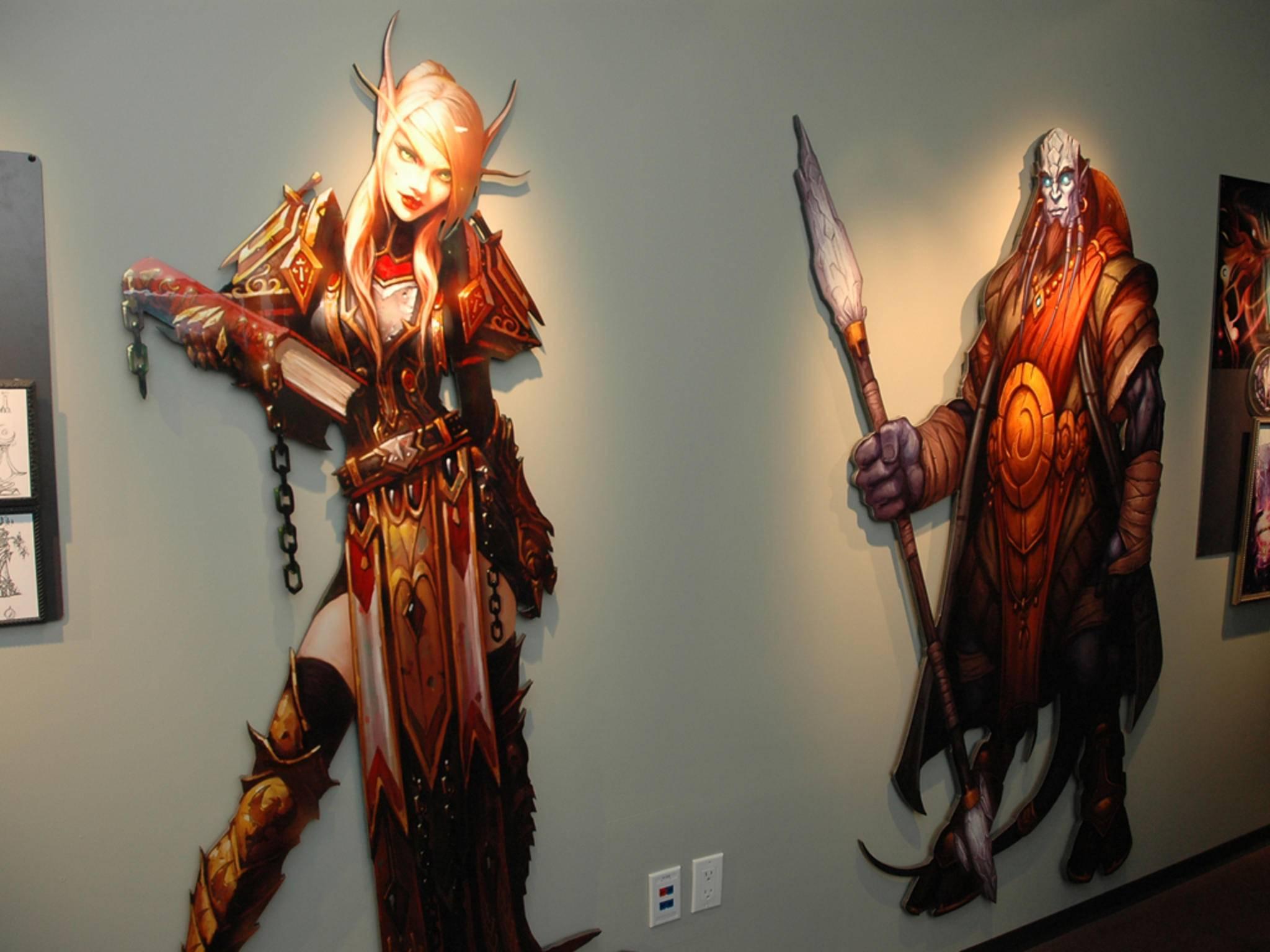 In der Firmenzentrale von Blizzard in Irvine ...