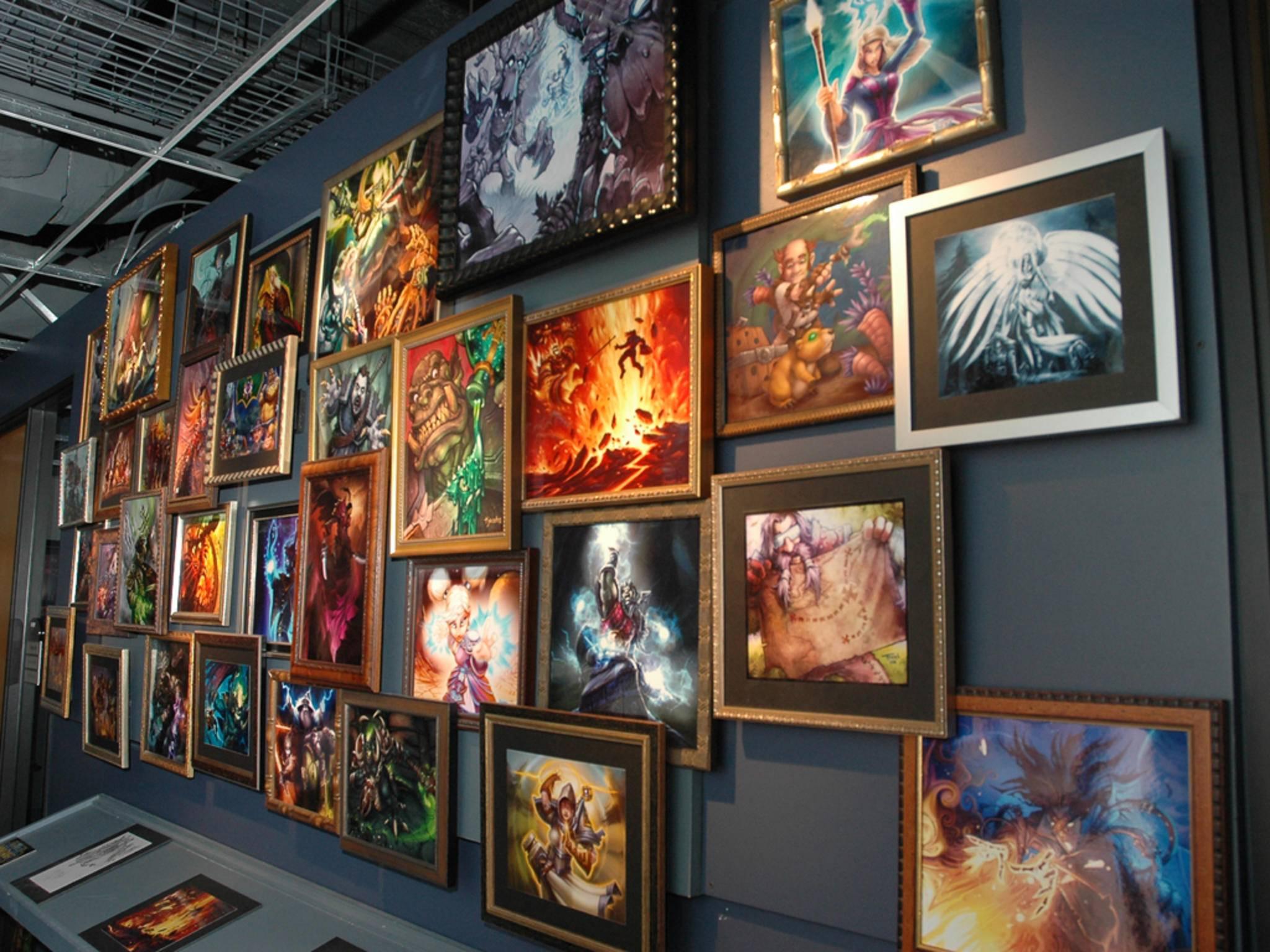 ... ist immer eine kleine Ausstellung zu sehen ...