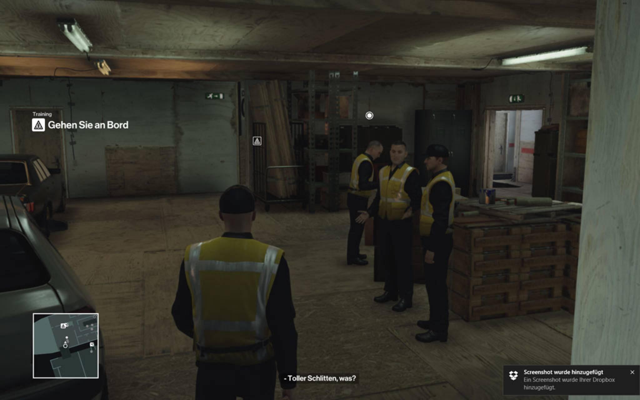 ... um an seinen Kollegen vorbeizukommen.
