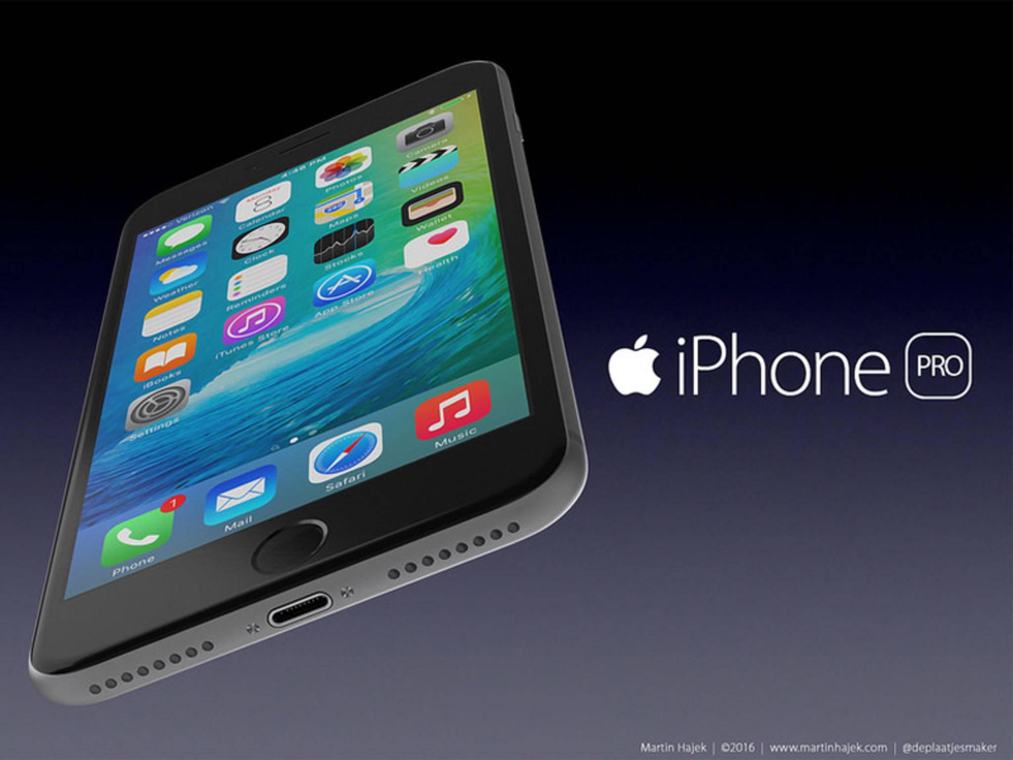 So könnte das iPhone Pro alias iPhone 7 Plus aussehen.