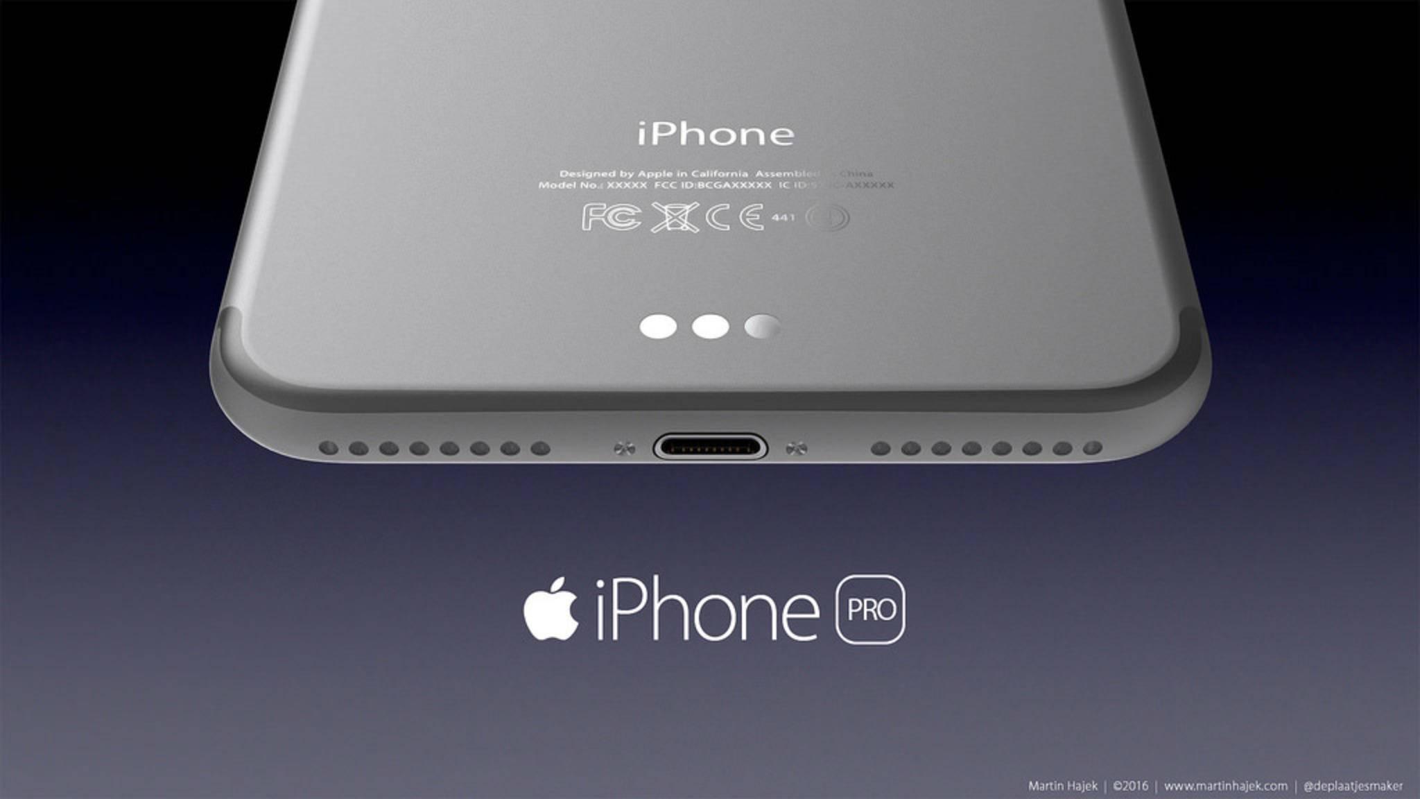 Denkbar ist ein Smart Connector im iPhone 7 Plus.