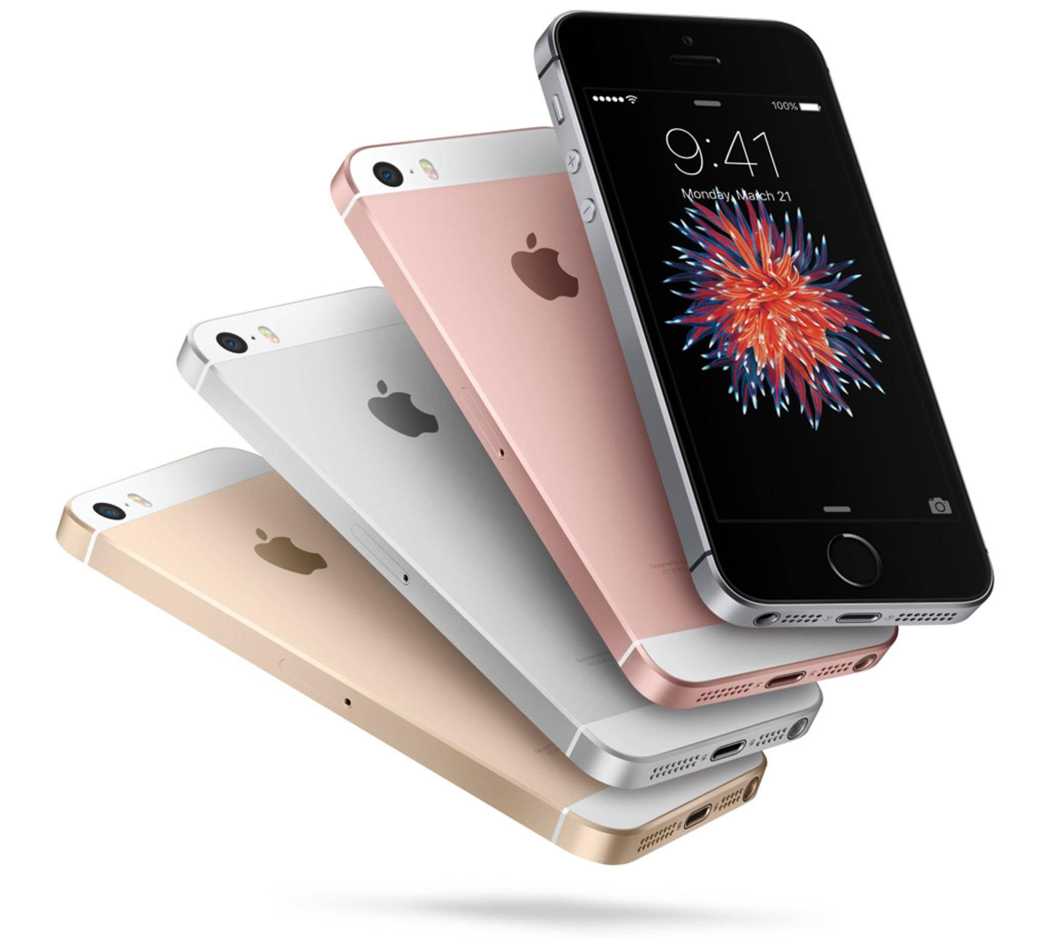 Das iPhone SE setzt noch auf das klassische Kanten-Design.