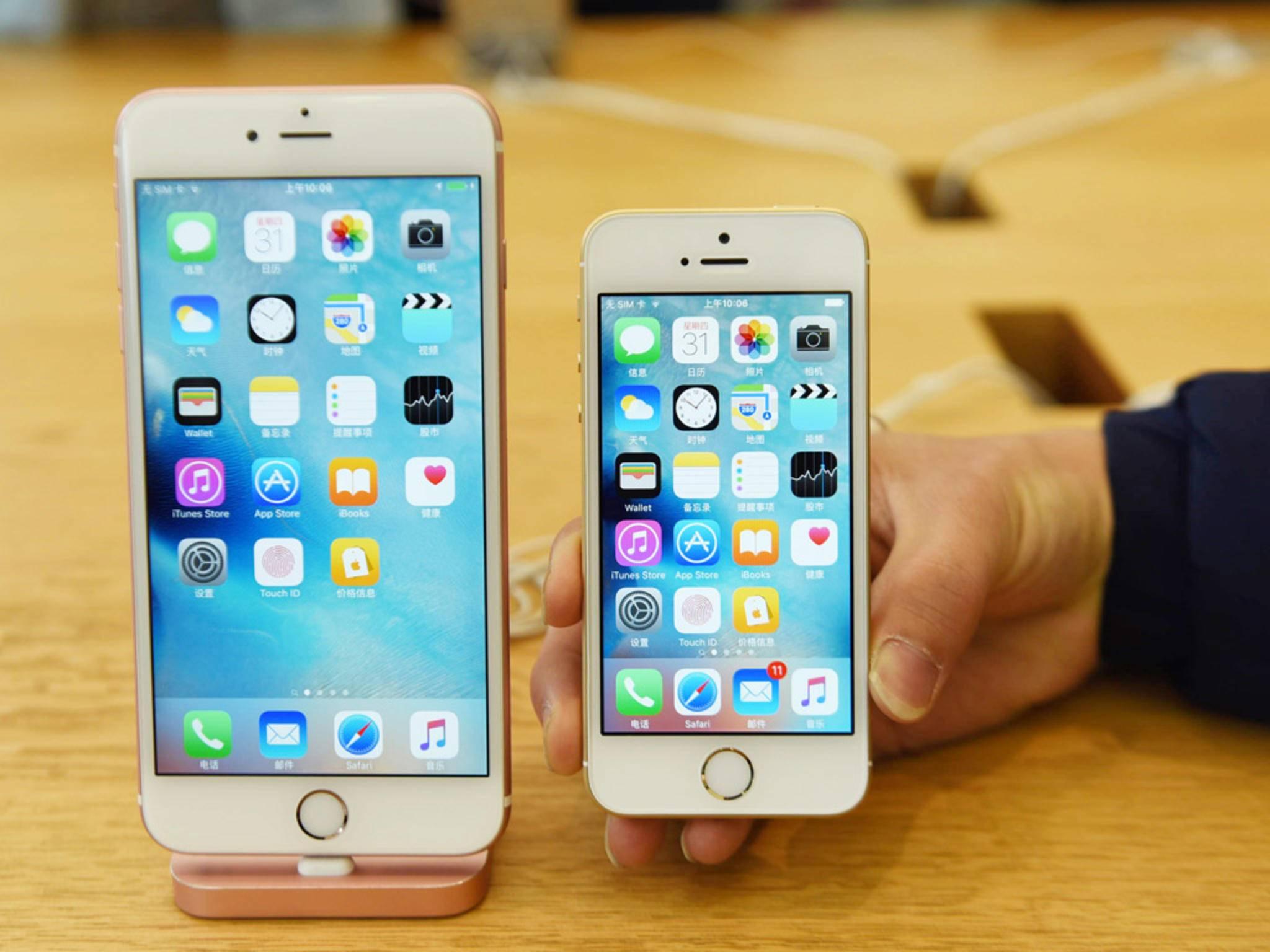 Das iPhone SE hat viele Bauteile vom iPhone 6s (Plus) übernommen.