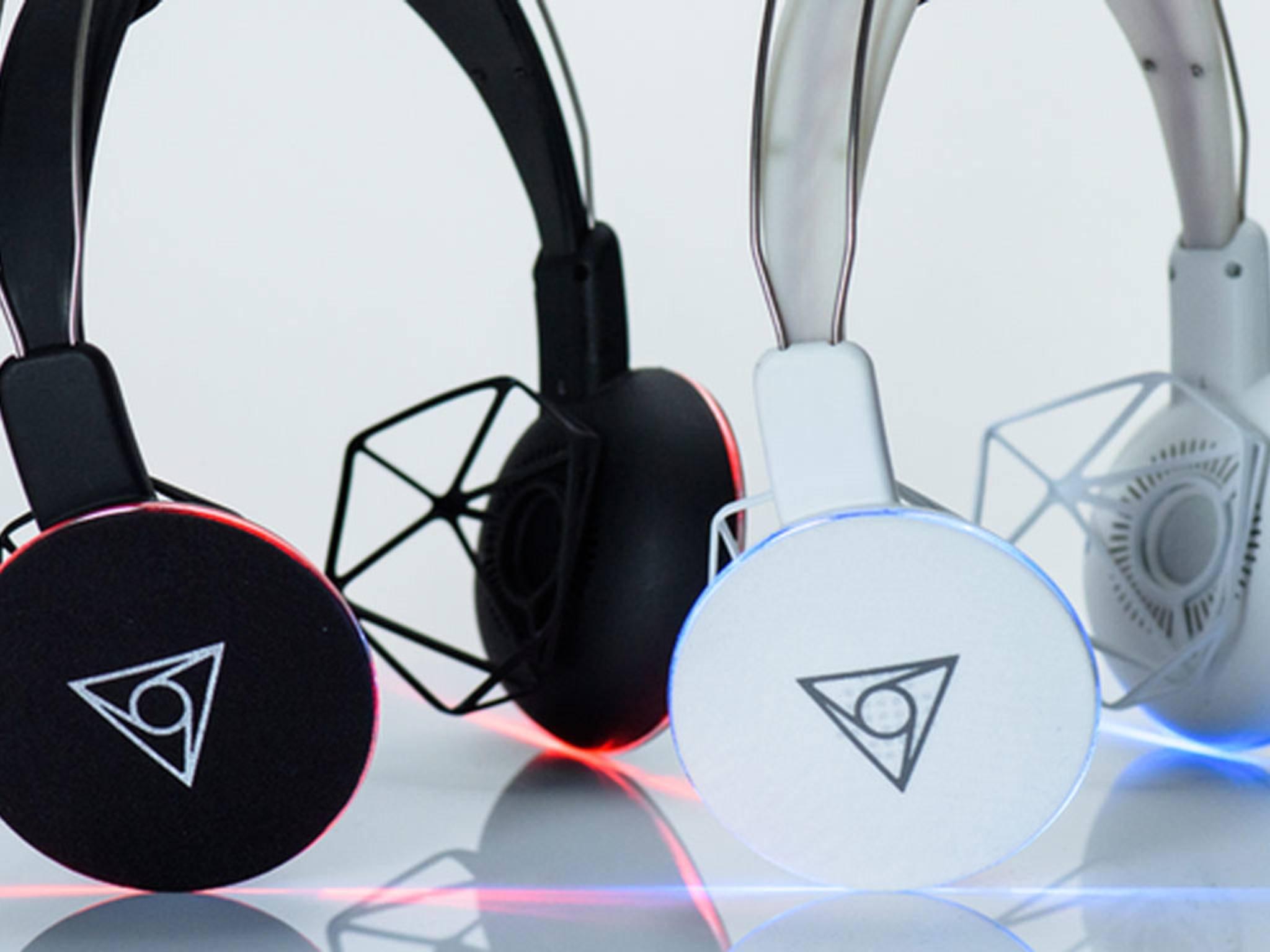 Interessante Idee: Die Kopfhörer mit dem Rahmen.