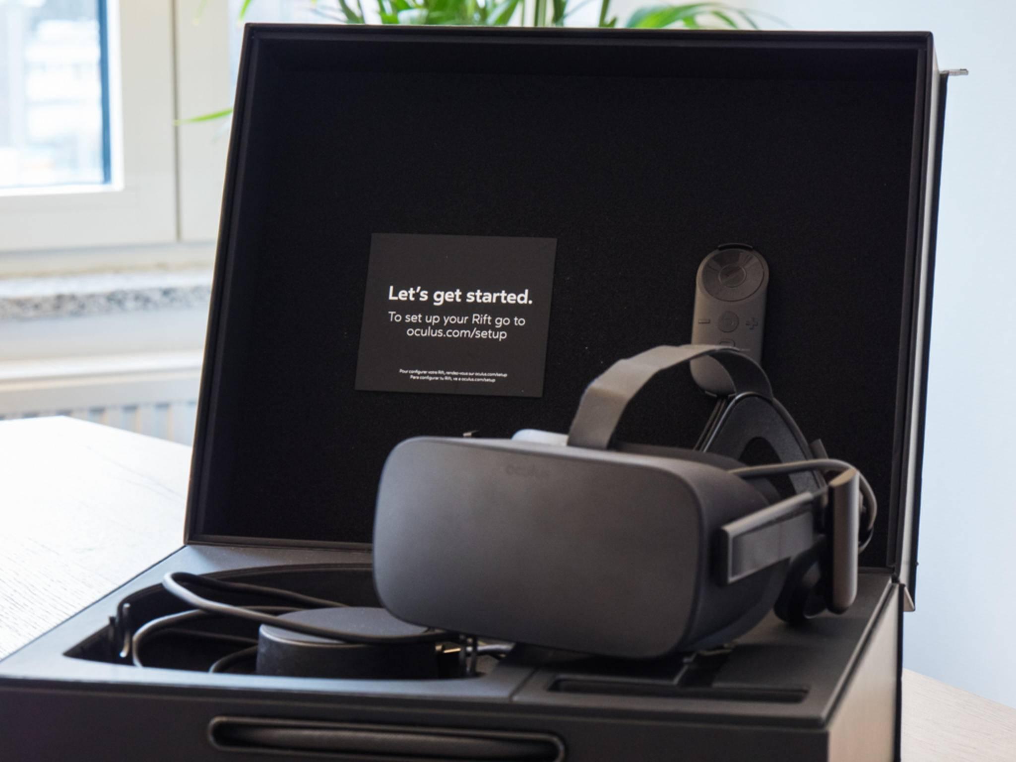 """Die Oculus ist die """"günstigere"""" der beiden Brillen, bietet aber auch weniger."""