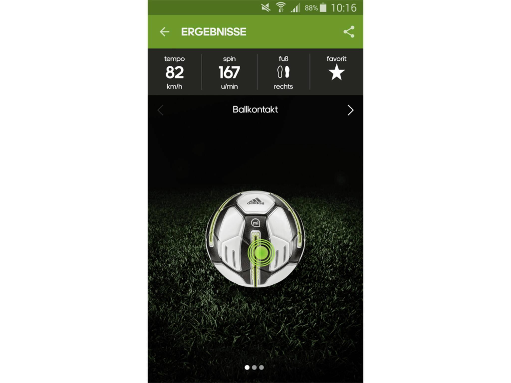 Adidas miCoach Smart Ball App 17