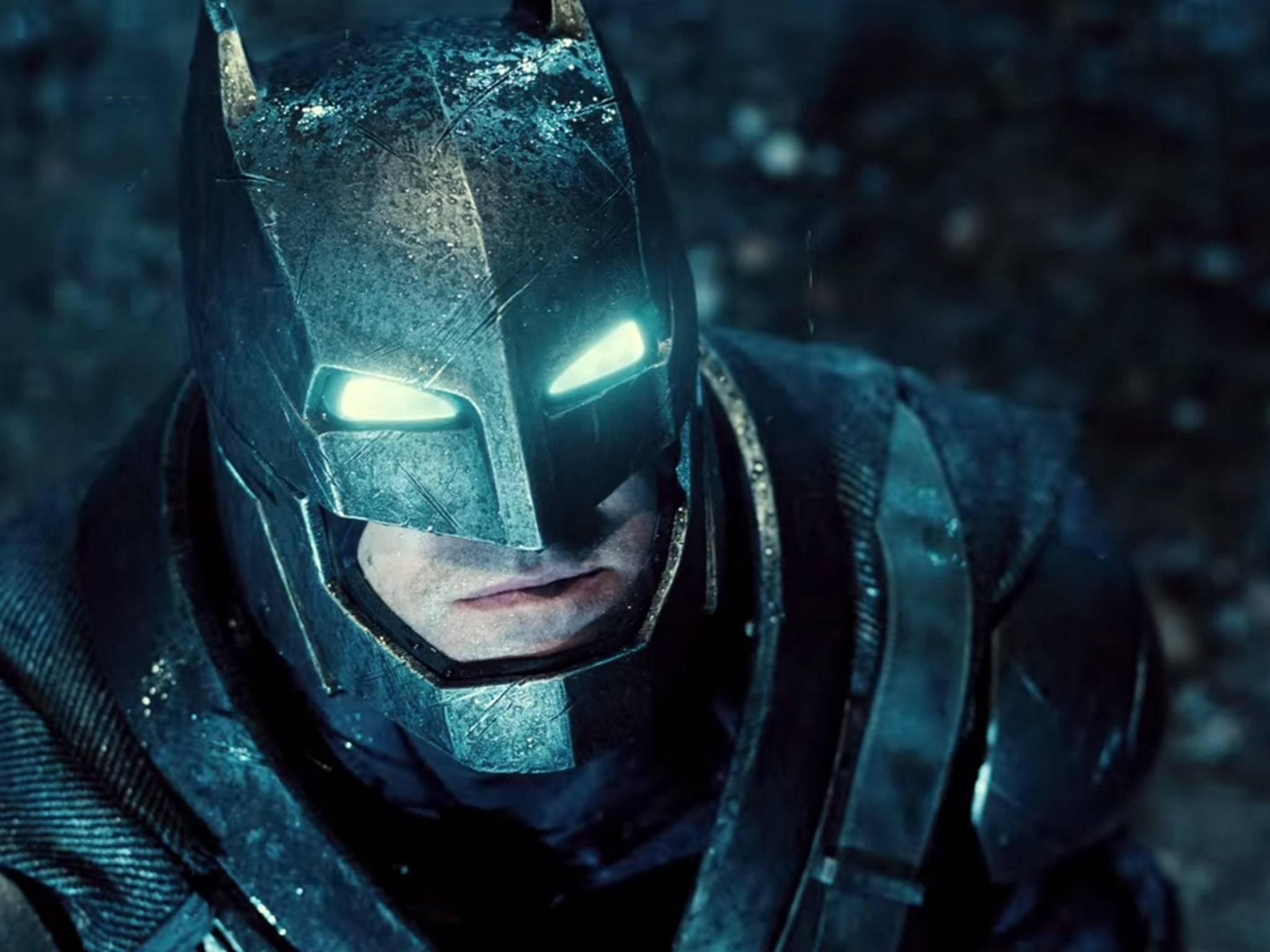 """So sah Ben Affleck als Batman in """"Batman v Superman"""" aus. In """"Justice League"""" bekommt er einen neuen, etwas weniger massiven Anzug."""